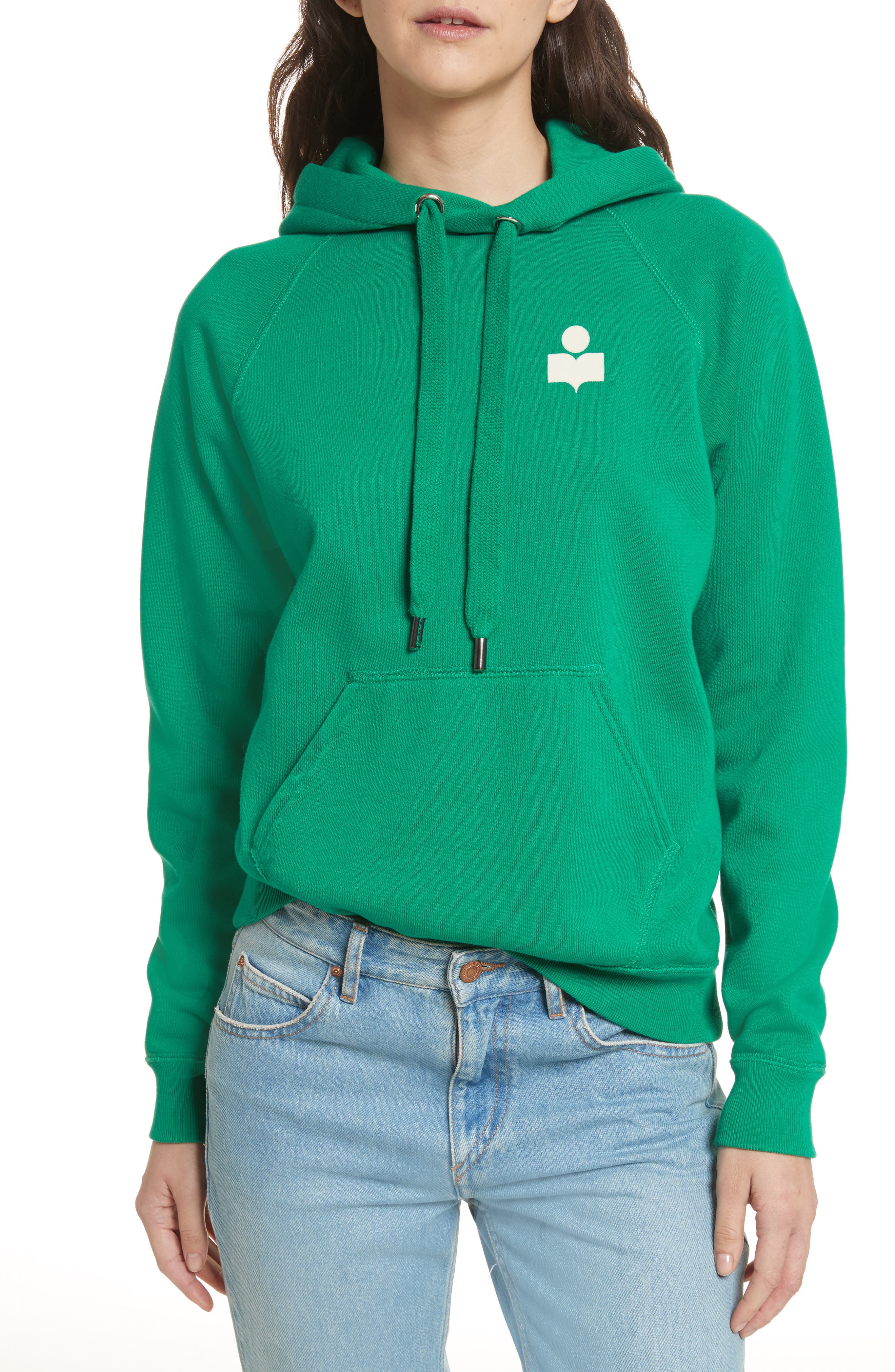 Isabel Marant Étoile Malibu Hoodie,                         Main,                         color, Green