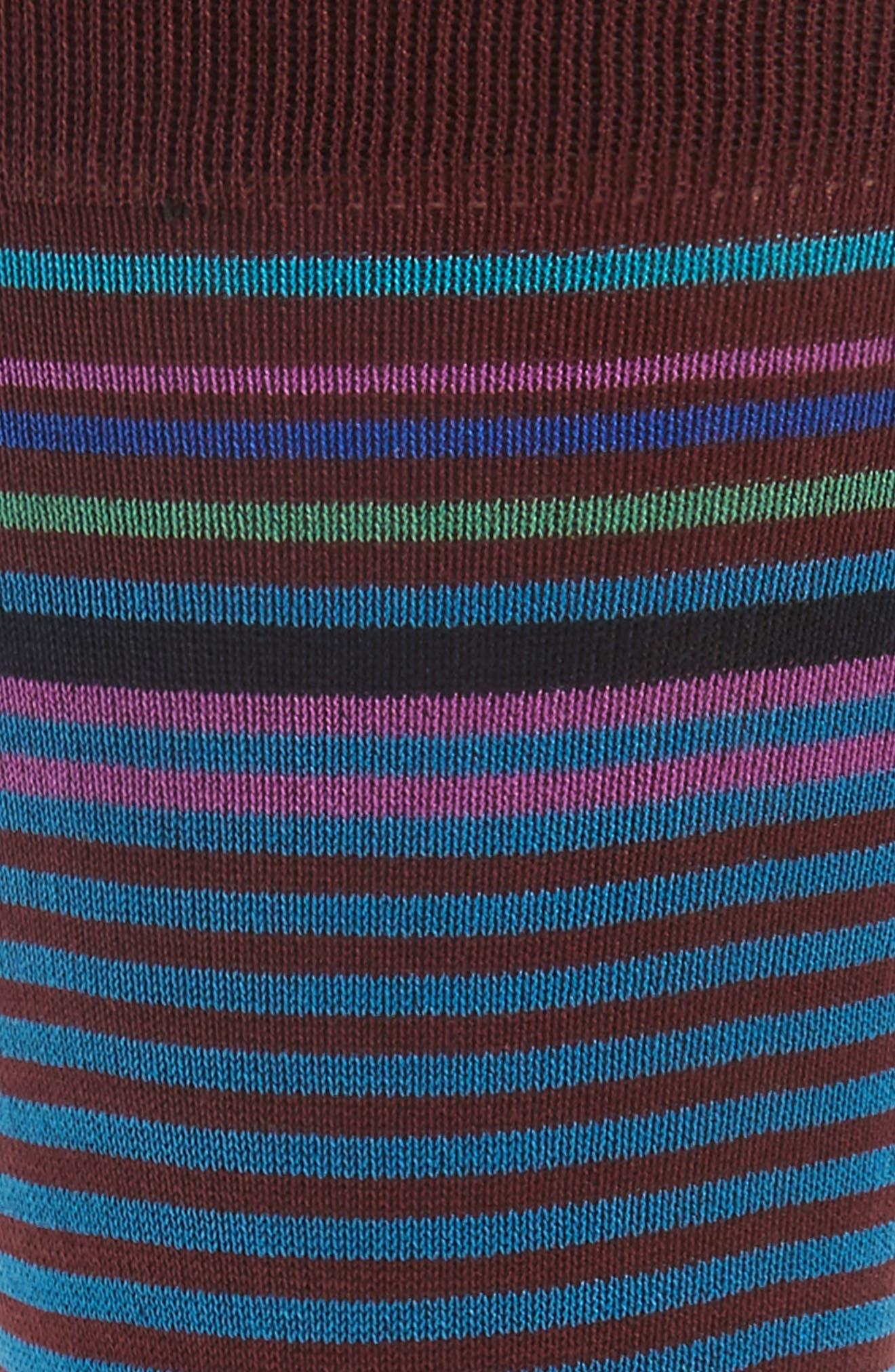 Alternate Image 2  - Bugatchi Stripe Crew Socks