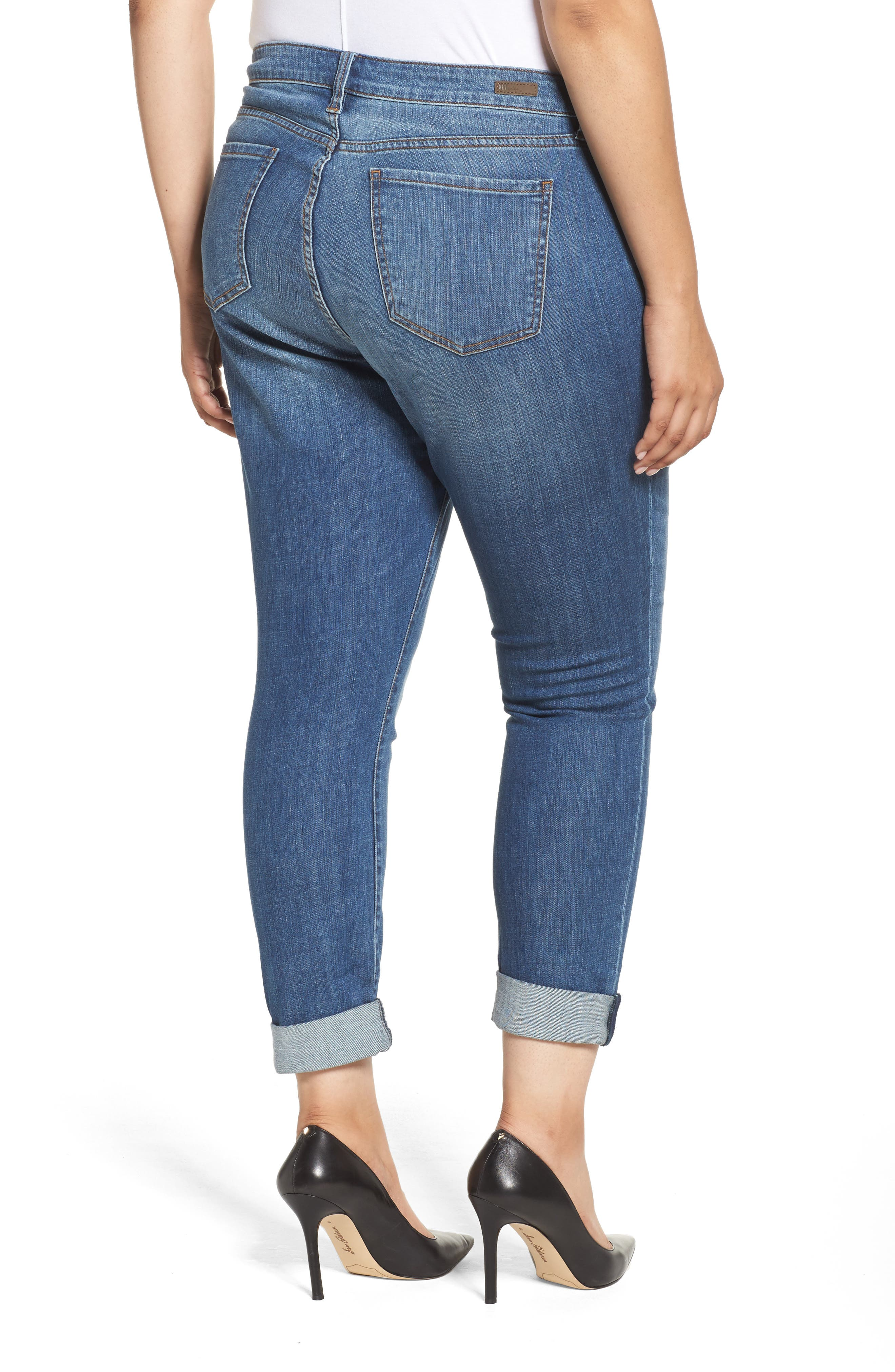 Alternate Image 2  - KUT from the Kloth Catherine Boyfriend Jeans (Fervent) (Plus Size)