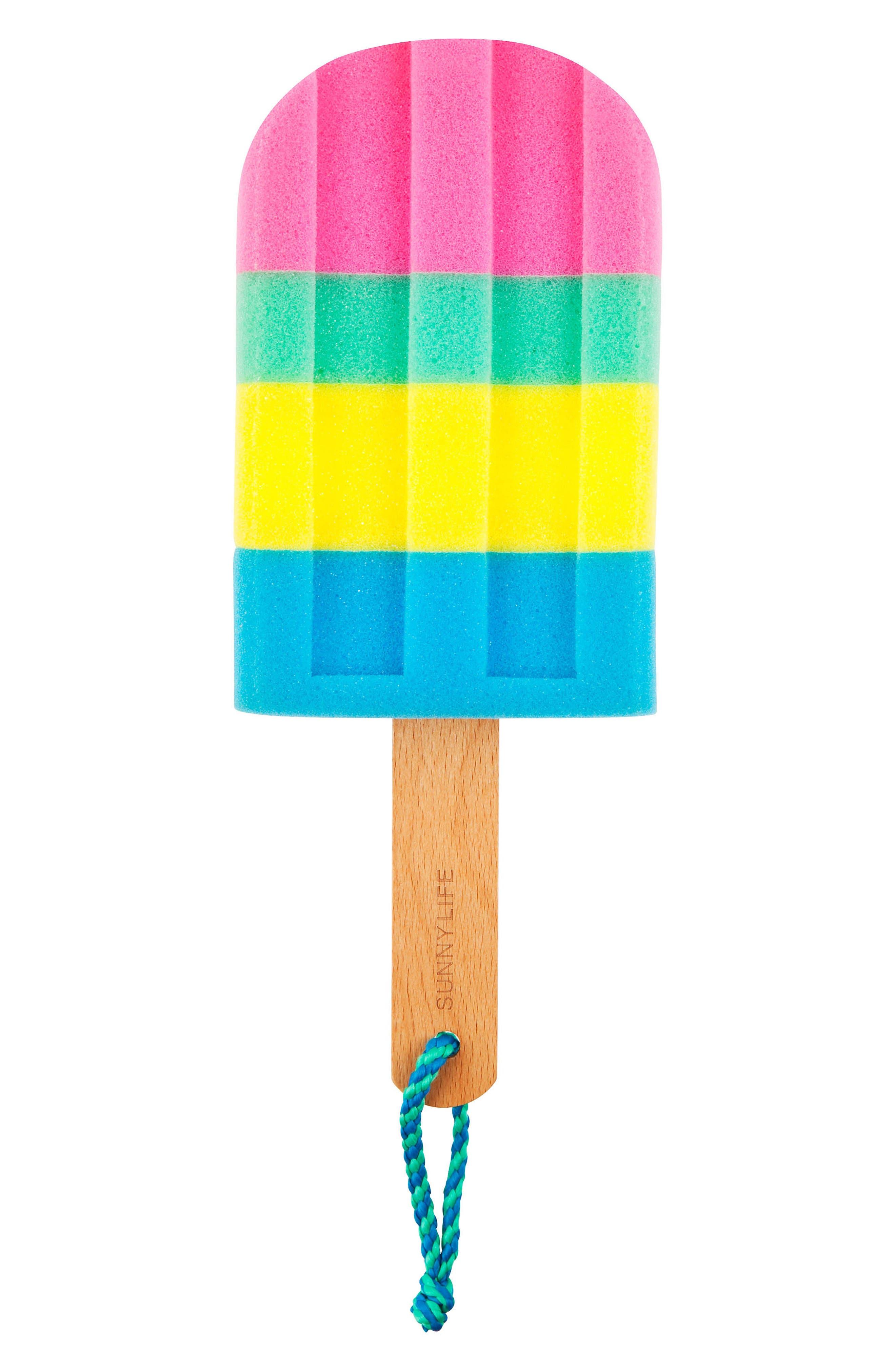 Ice Lolly Bath Sponge,                         Main,                         color, Blue