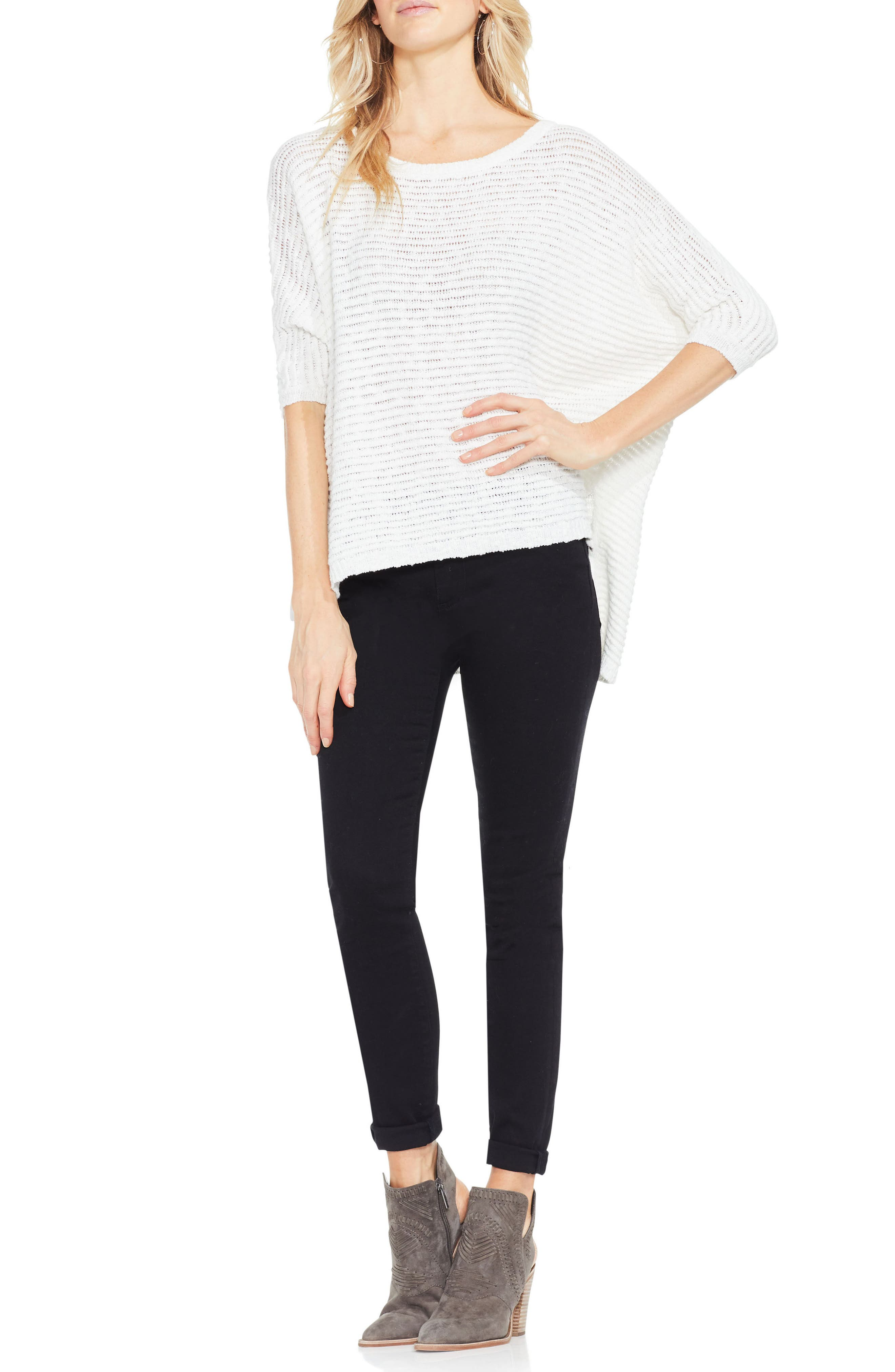 Alternate Image 2  - Two by Vince Camuto Crinkle Yarn Dolman Sleeve Top
