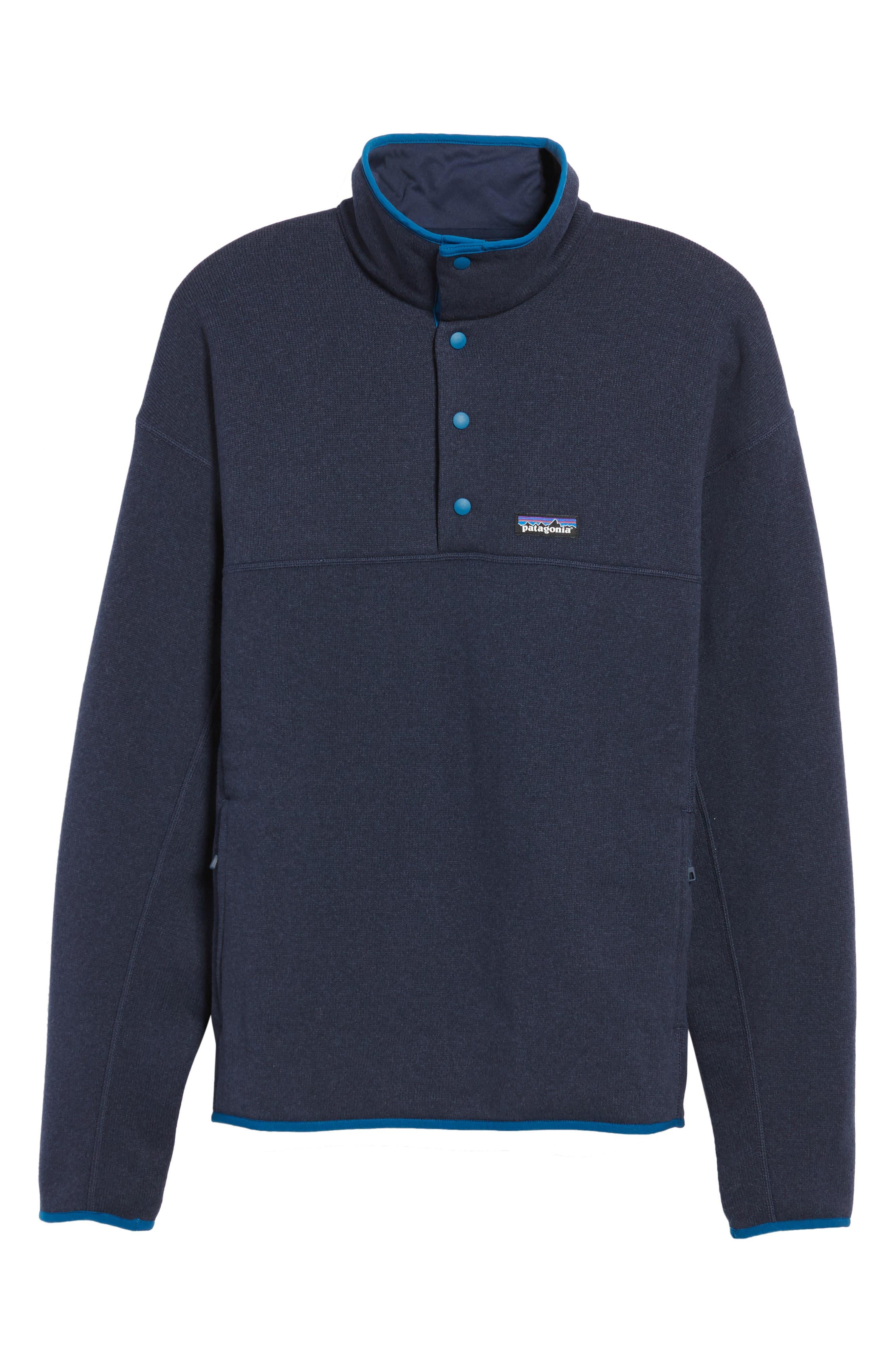 Lightweight Better Sweater Pullover,                             Alternate thumbnail 6, color,                             Navy Blue