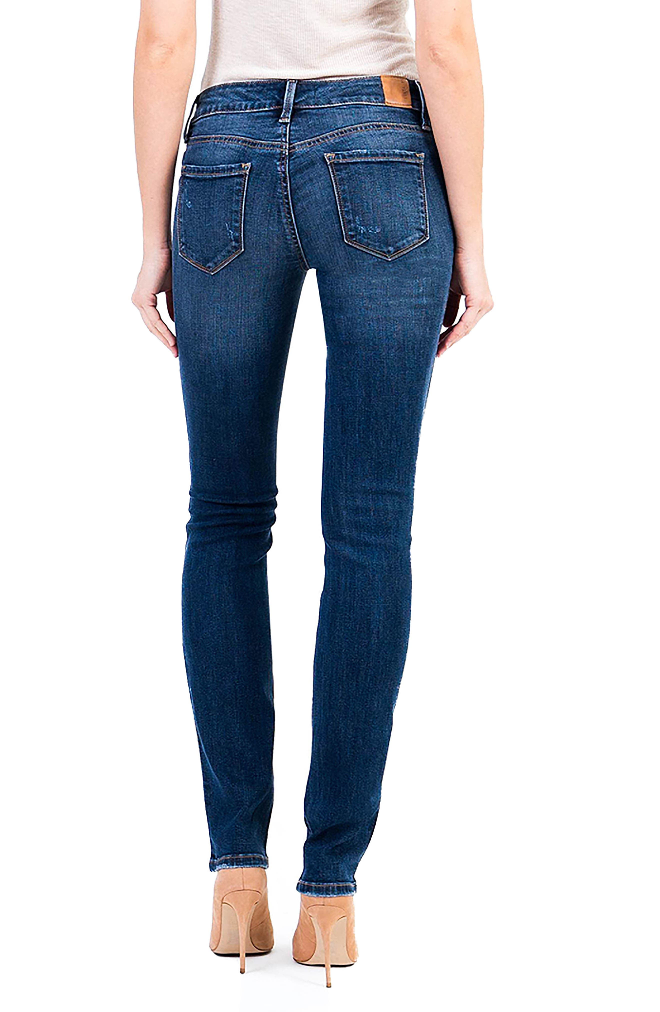 Lily Stretch Skinny Jeans,                             Alternate thumbnail 2, color,                             Von Zep