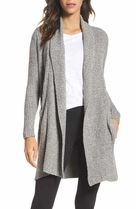Bobeau High/Low Jersey Cardigan (Regular & Petite) by BOBEAU