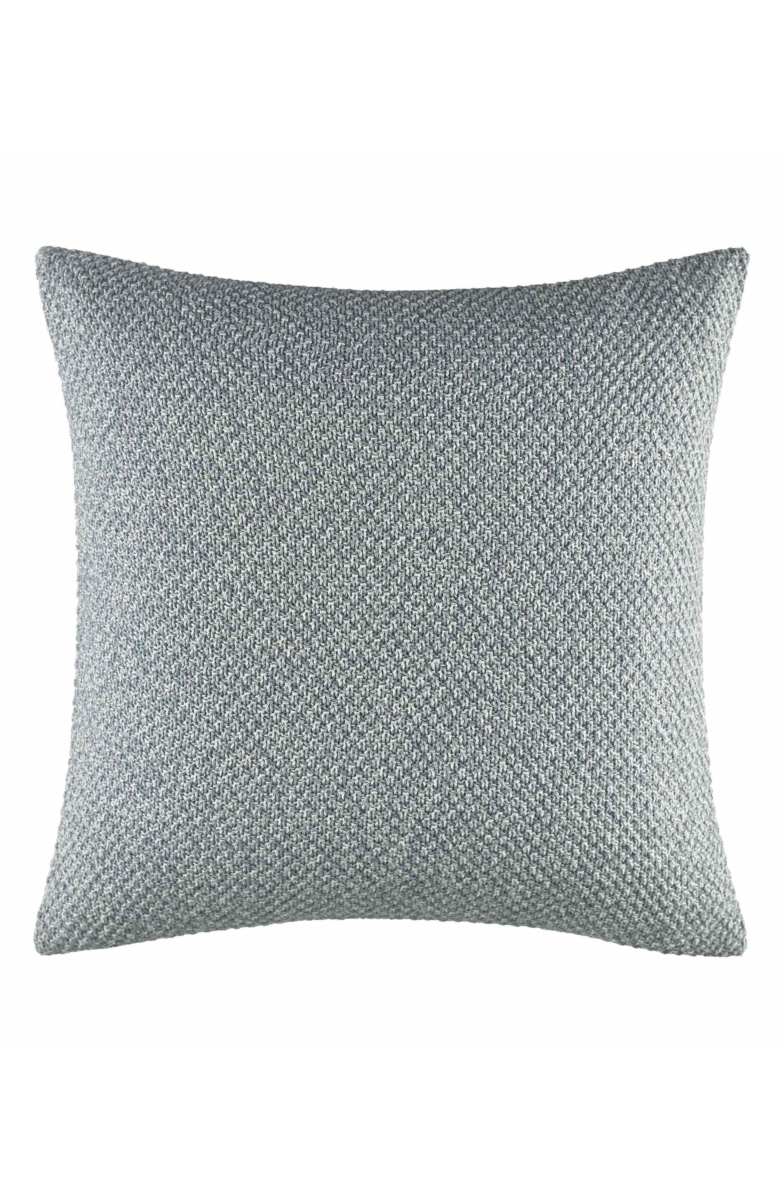 Cape Coral Knit Pillow,                         Main,                         color, Turquoise