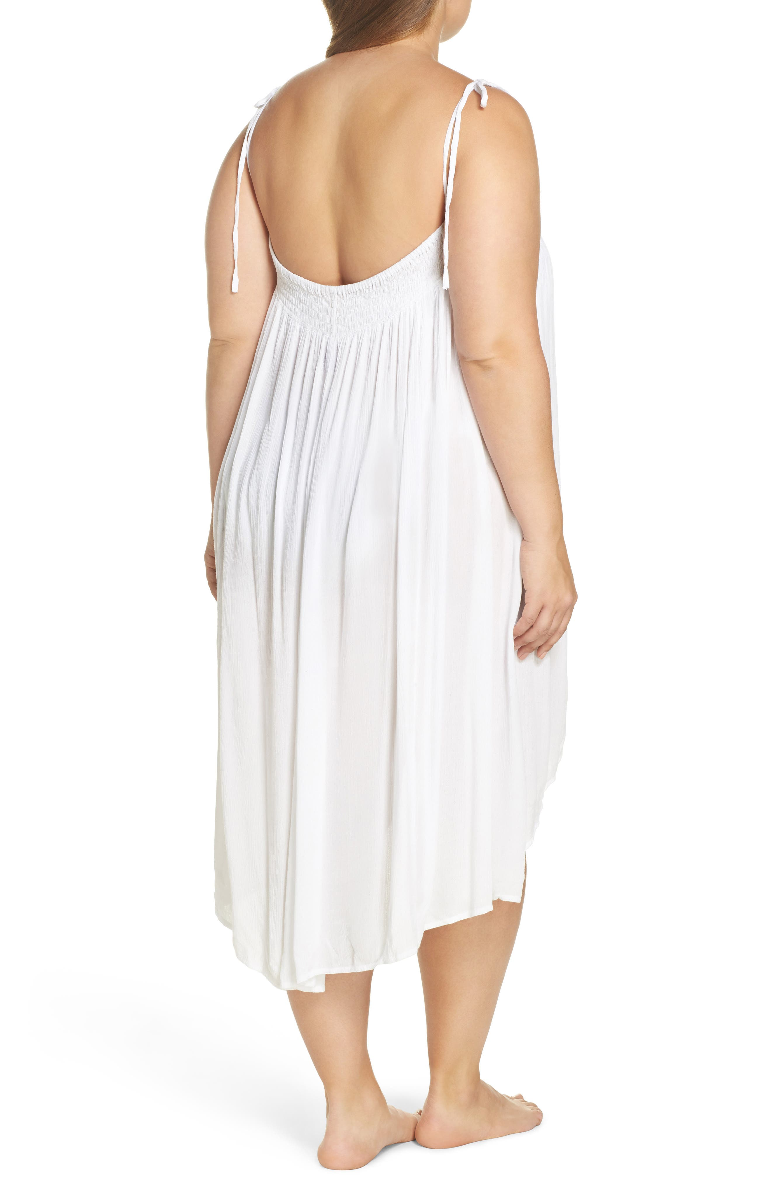 Oliva Cover-Up Dress,                             Alternate thumbnail 2, color,                             White