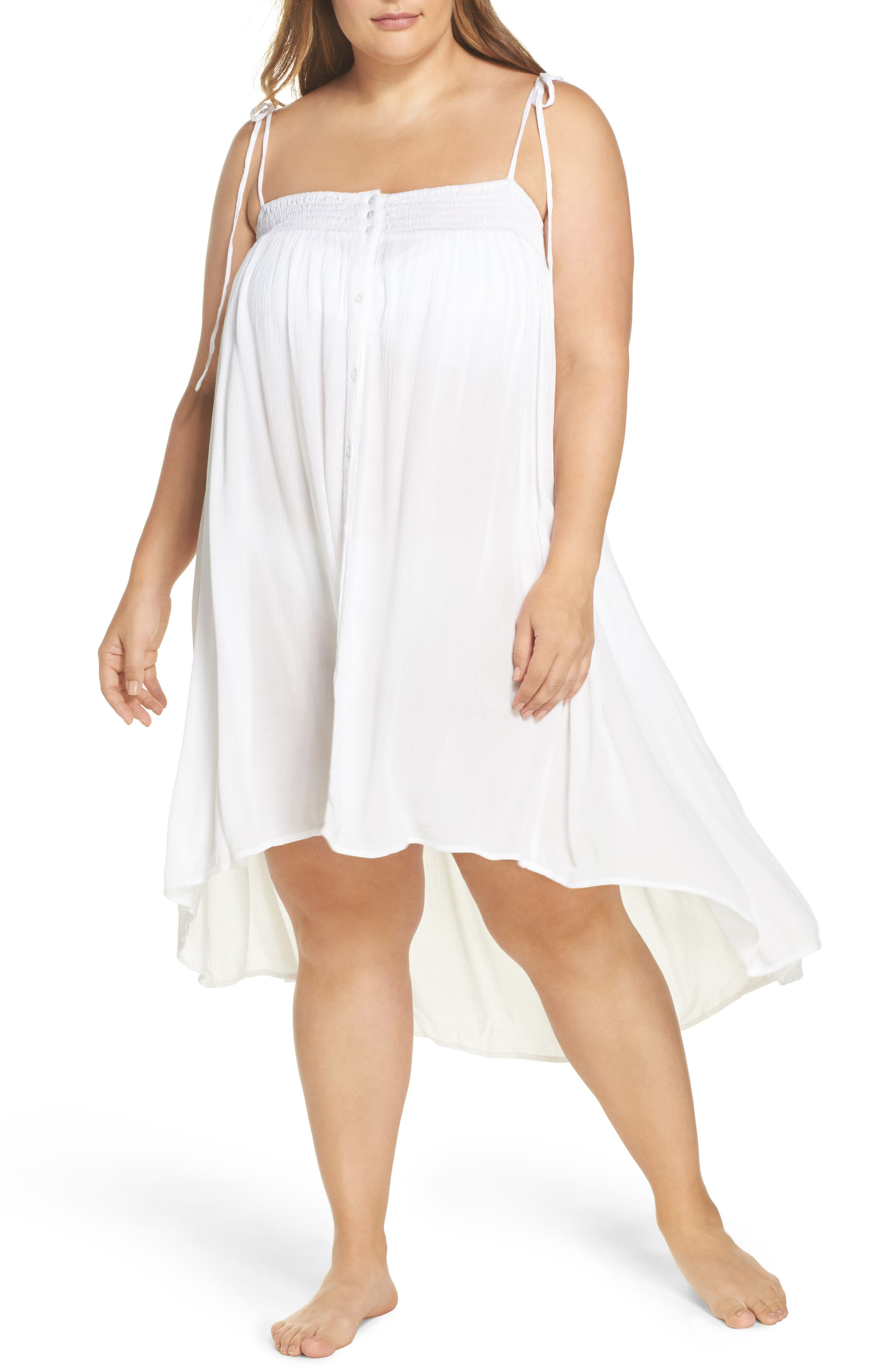 Oliva Cover-Up Dress,                             Main thumbnail 1, color,                             White