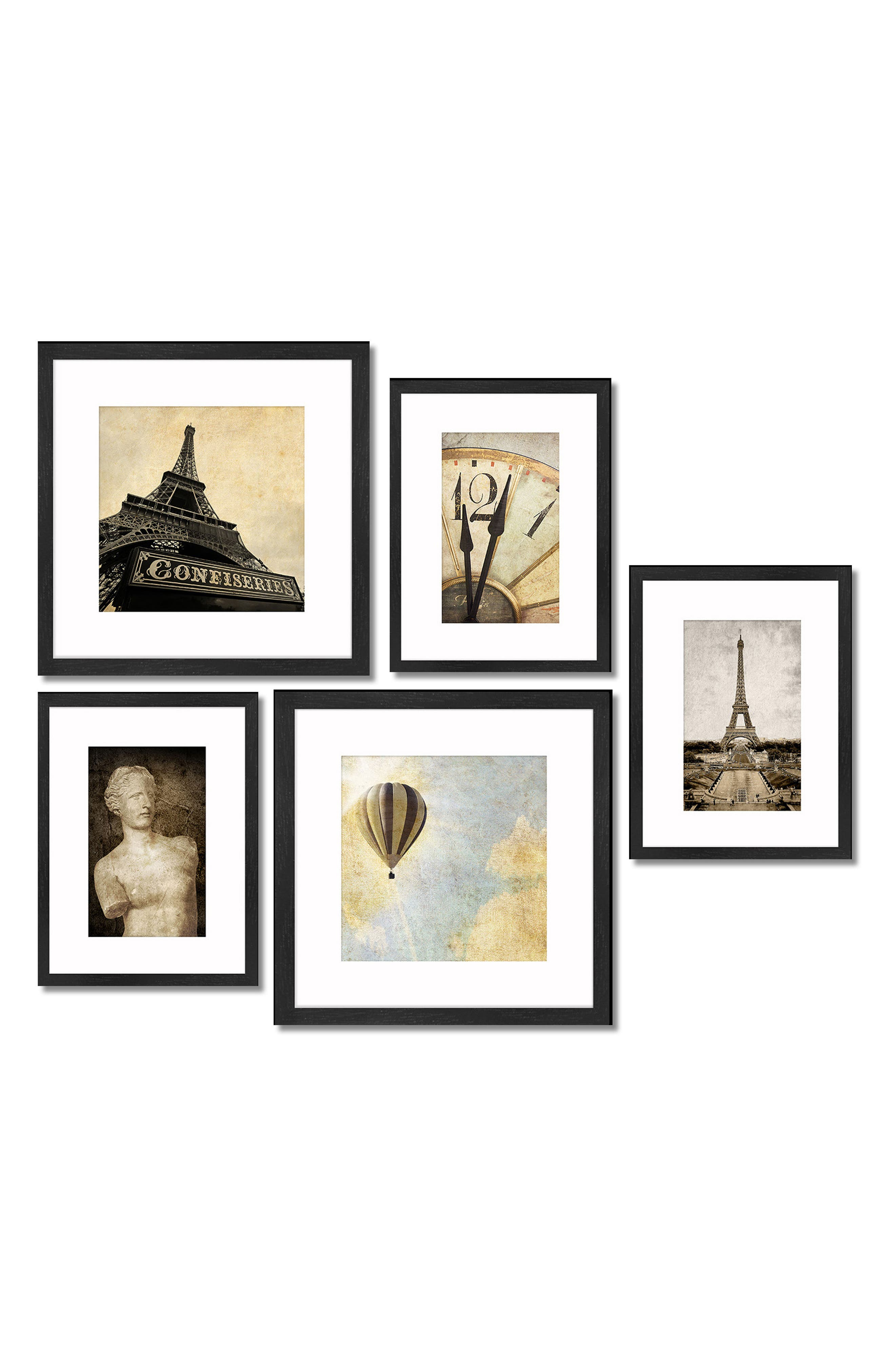 5-Piece Framed Wall Art Gallery,                         Main,                         color, Old World