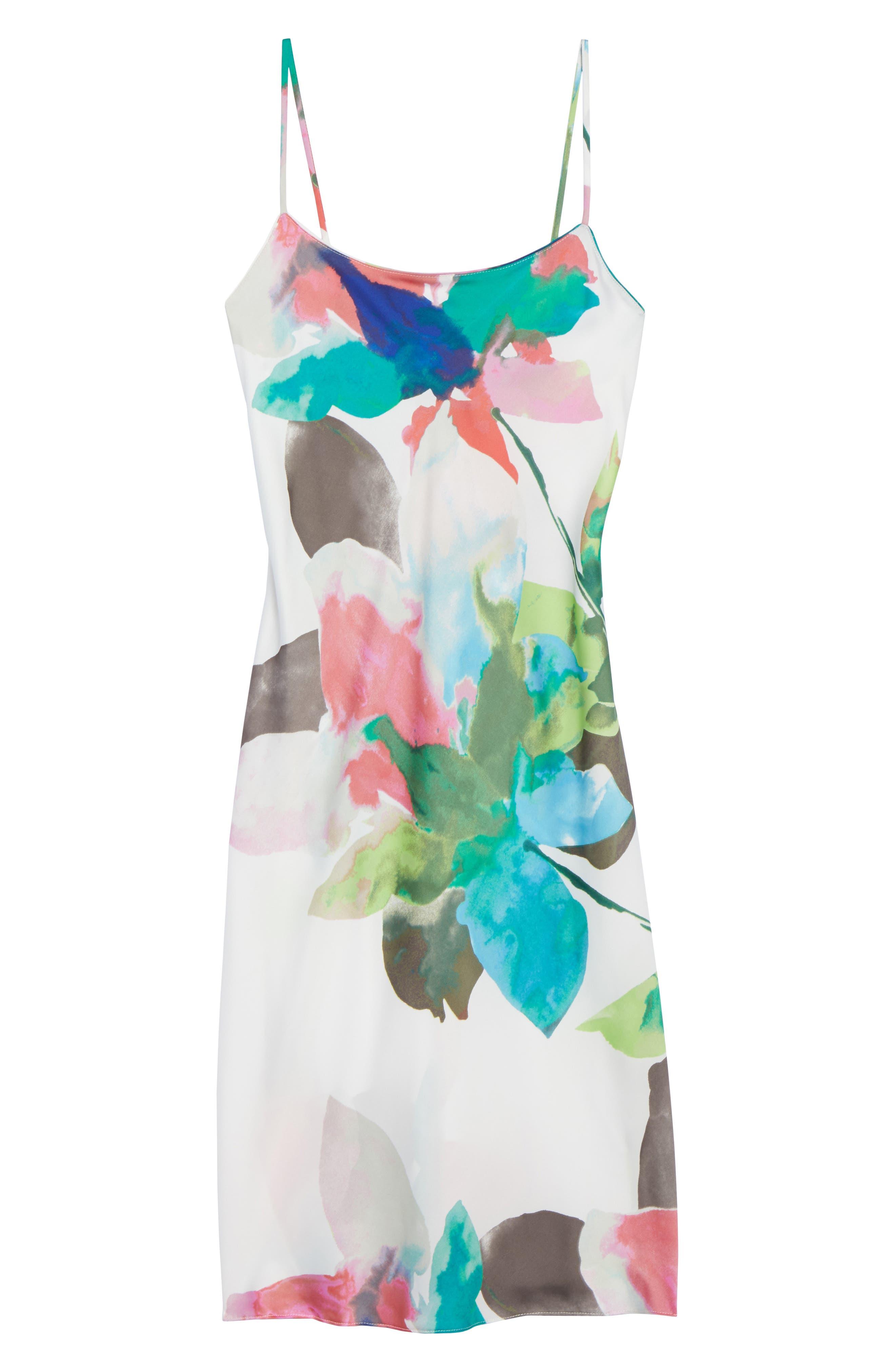 Alternate Image 5  - Natori Water Lily Print Satin Nightgown