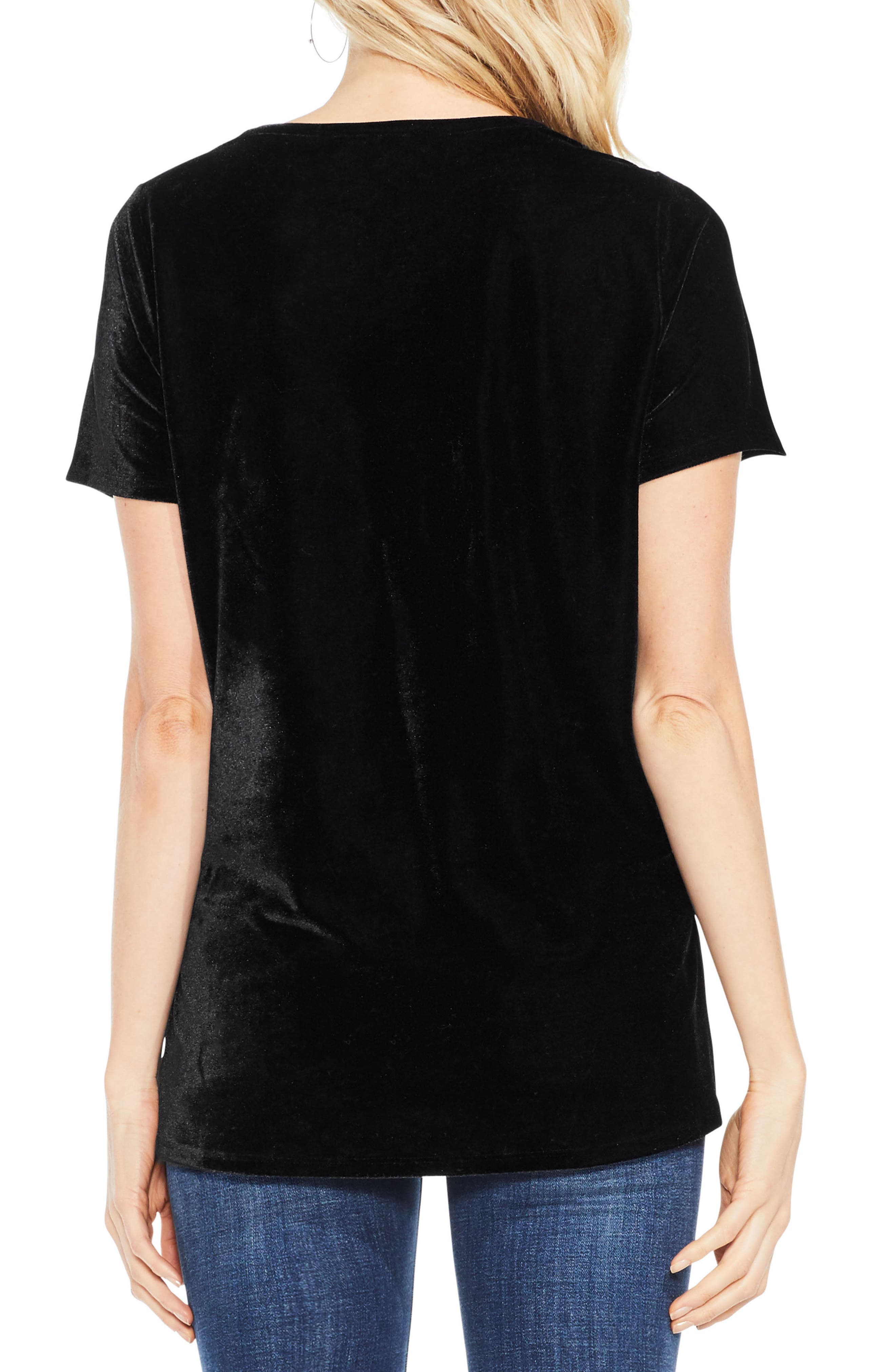 Alternate Image 3  - Two by Vince Camuto Velvet Top