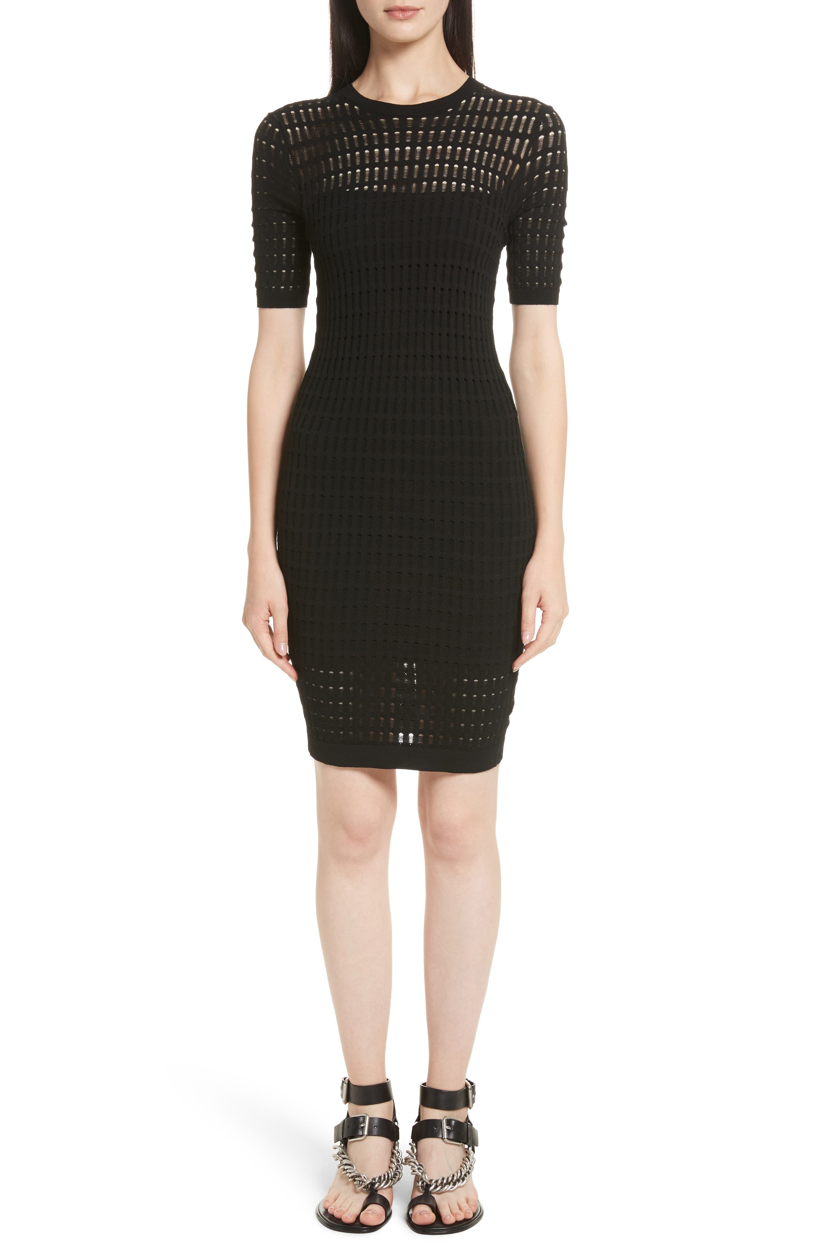 Alternate Image 1 Selected - T by Alexander Wang Float Stitch Lace Dress