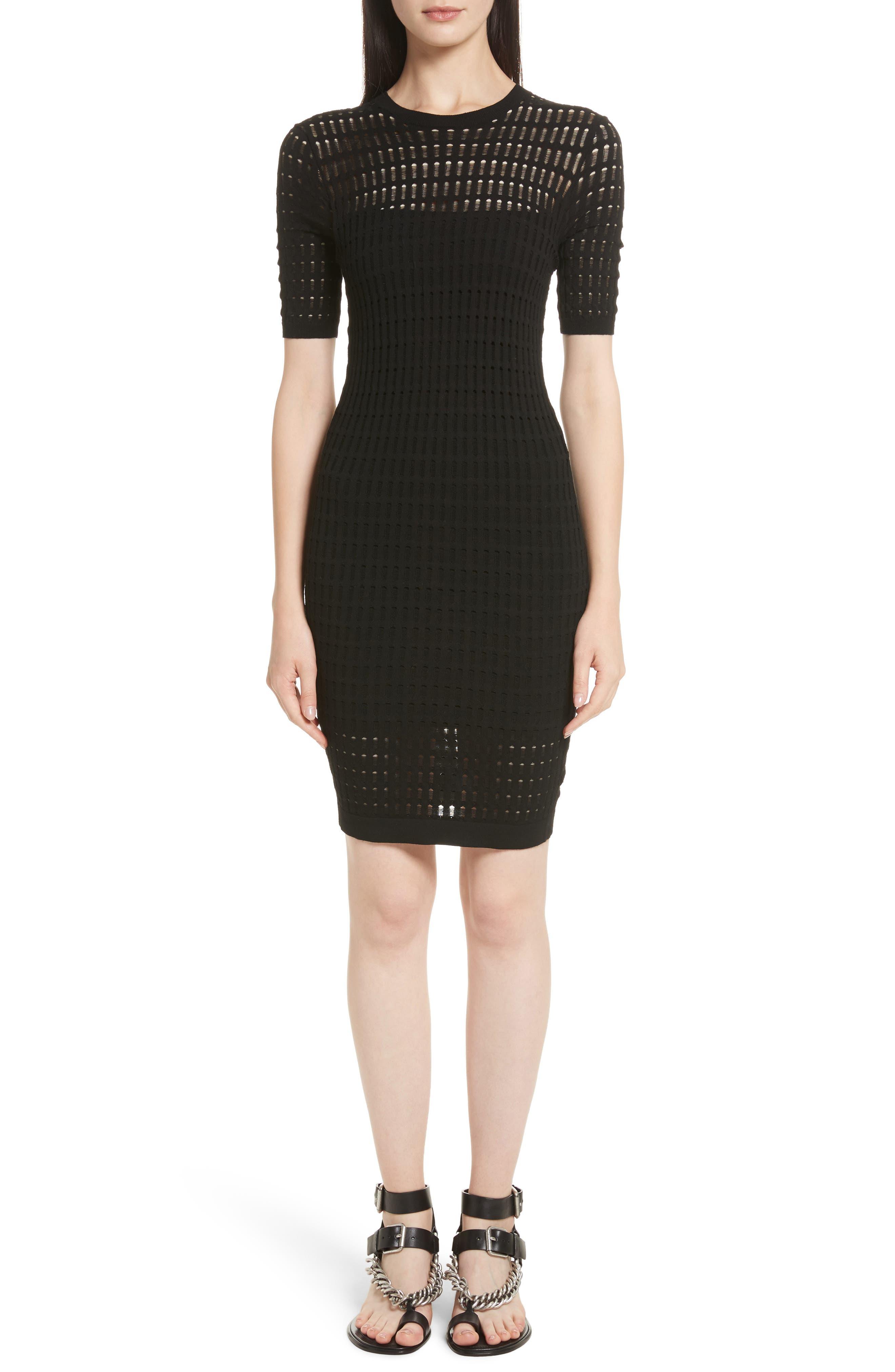 Float Stitch Lace Dress,                         Main,                         color, Black