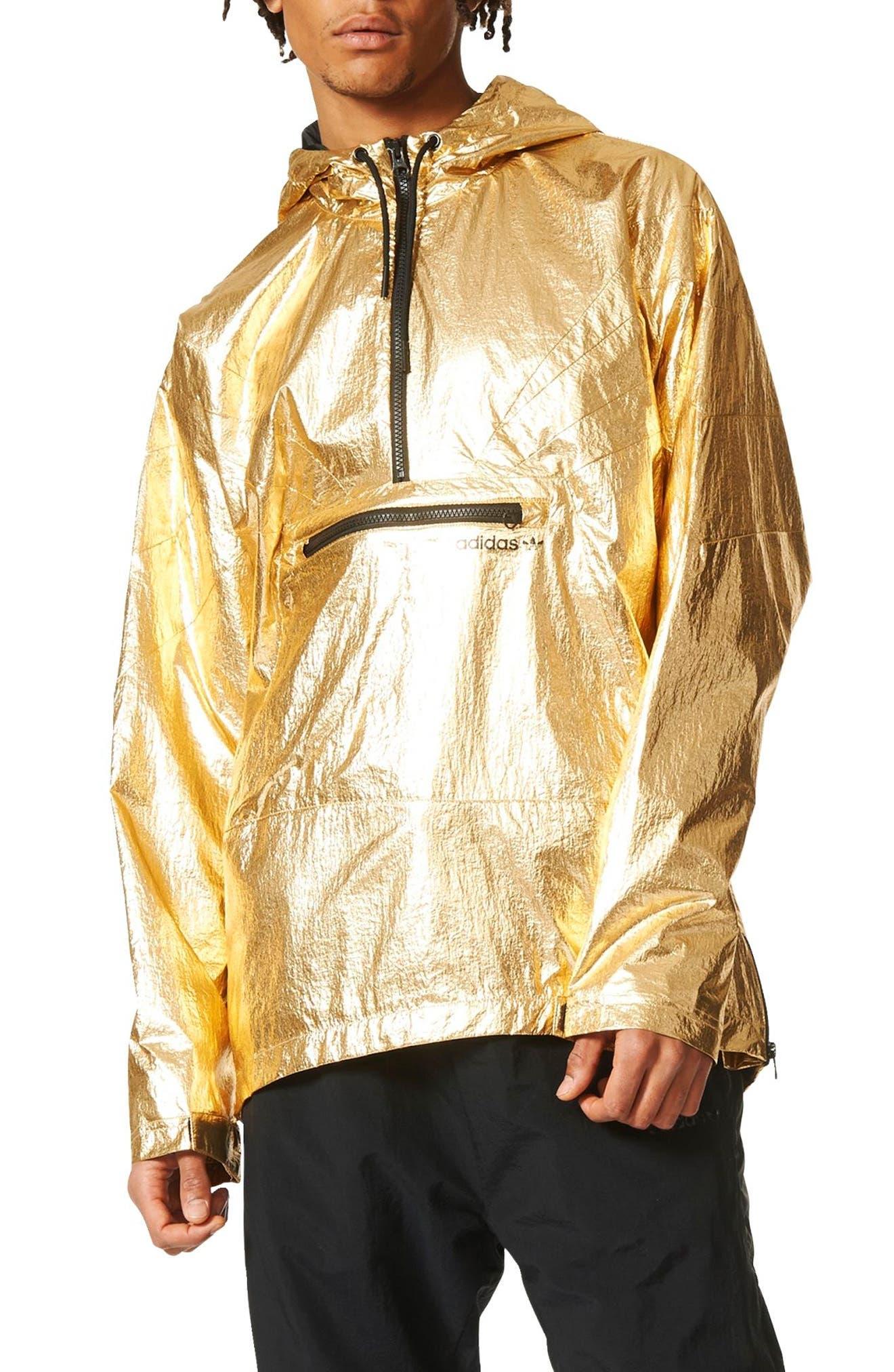 Originals Fontanka Hooded Jacket,                         Main,                         color, Gold Met