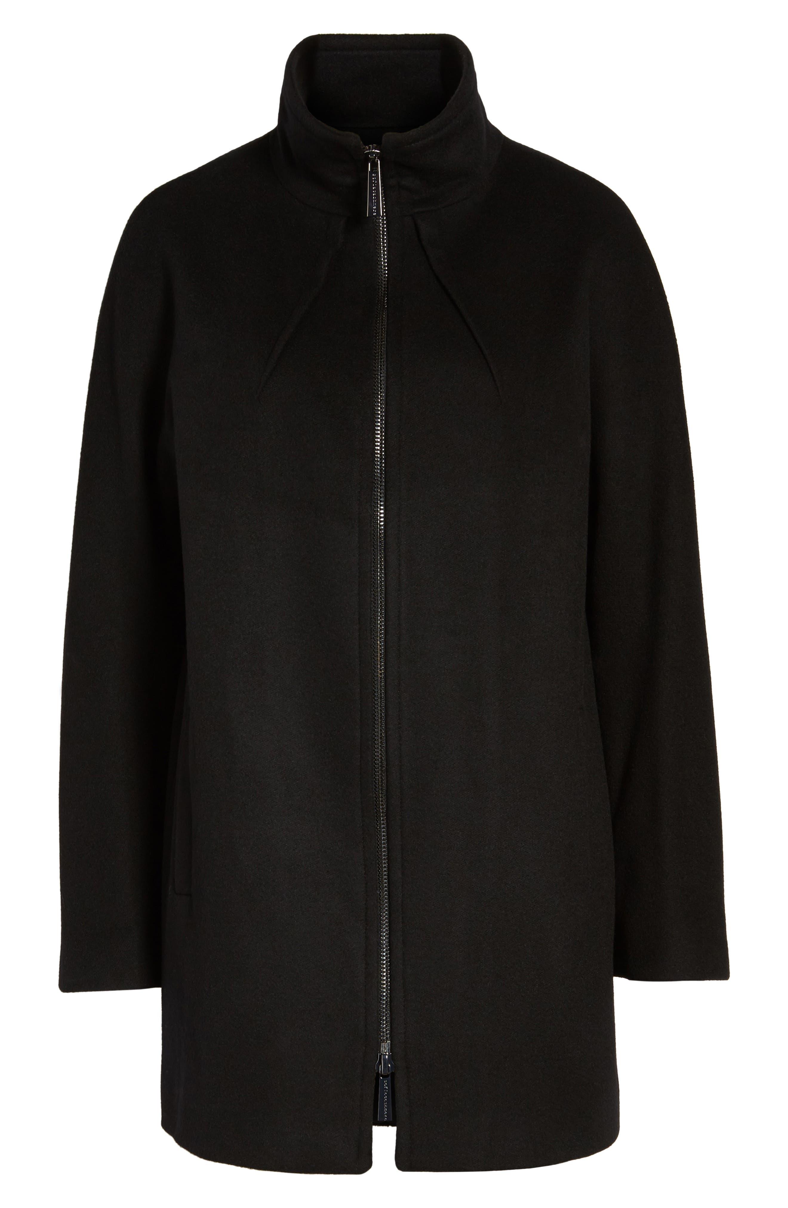 Dolman Sleeve Coat,                             Main thumbnail 1, color,                             Black