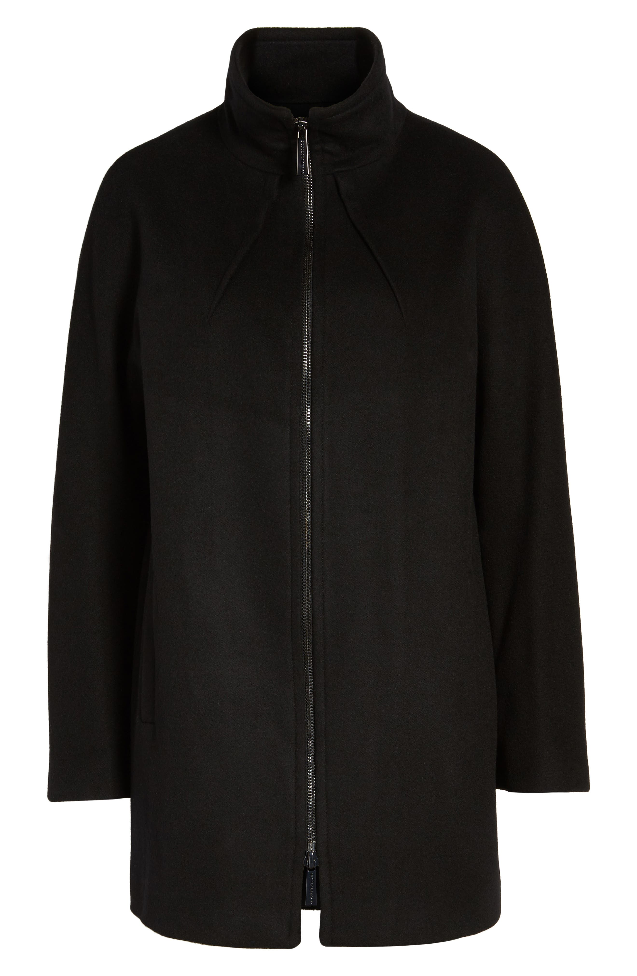 Dolman Sleeve Coat,                         Main,                         color, Black