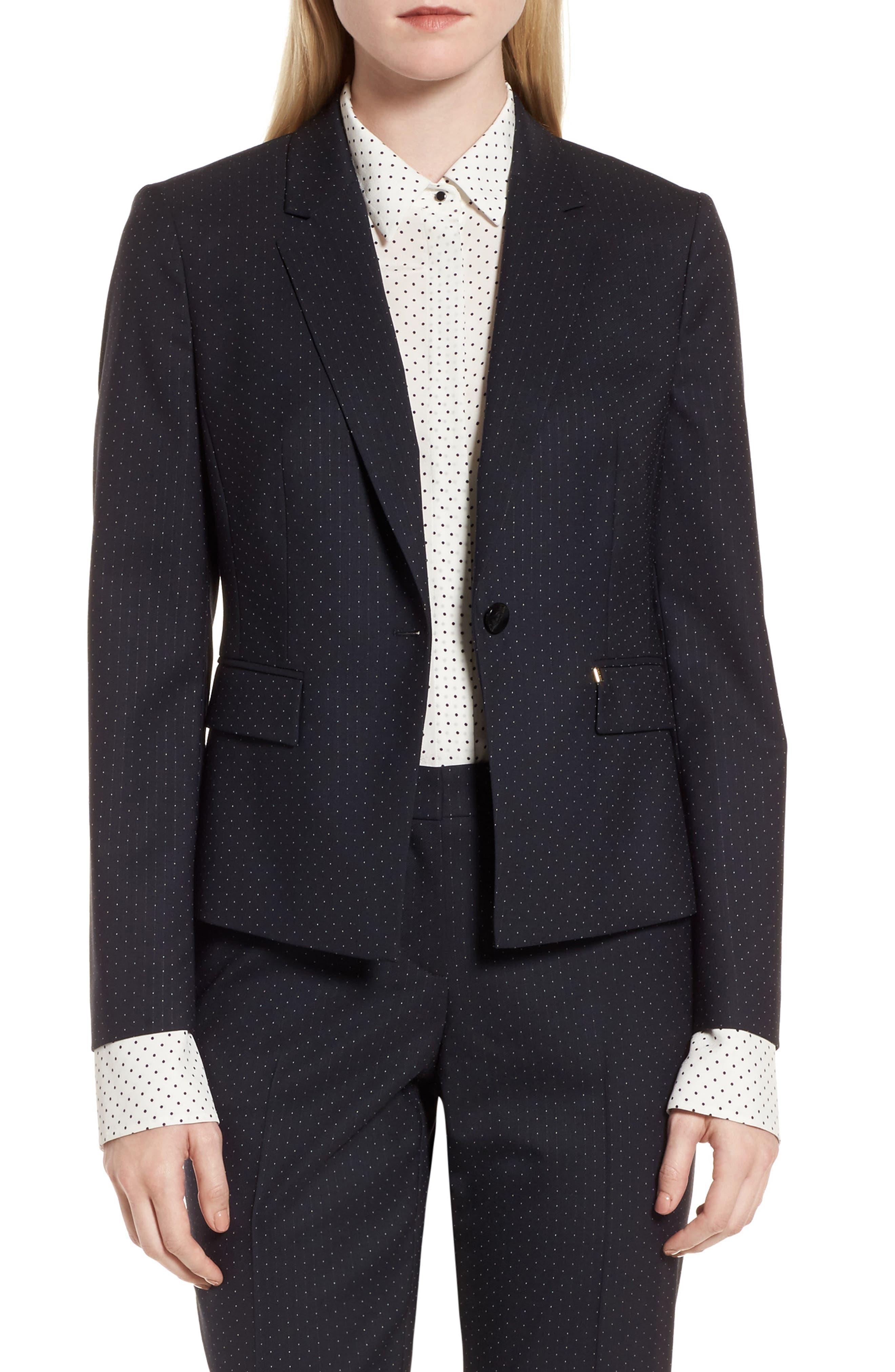 Main Image - BOSS Jinalika Wool Suit Jacket