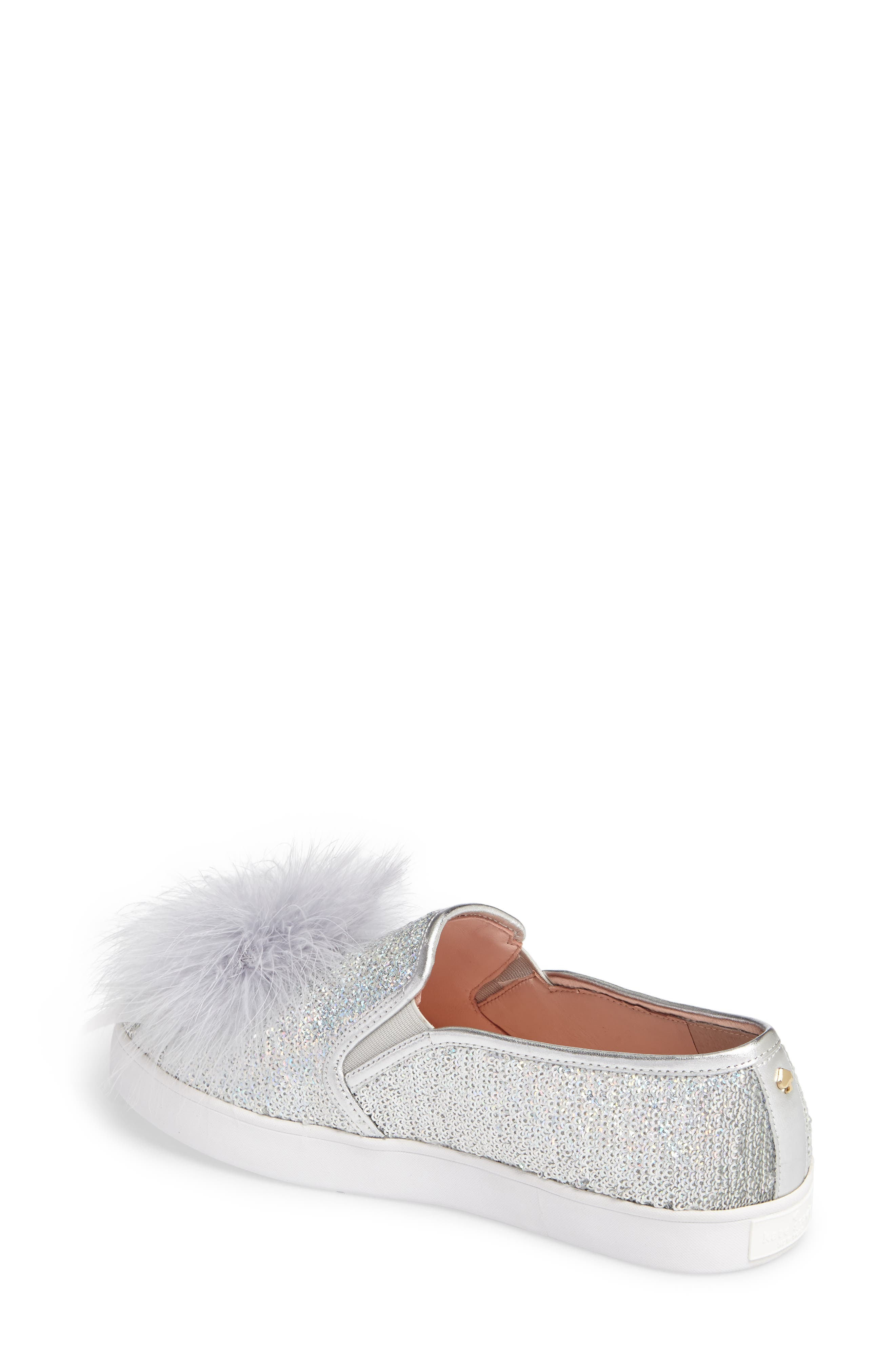 sequin slip-on sneaker,                             Alternate thumbnail 2, color,                             Silver Sequins