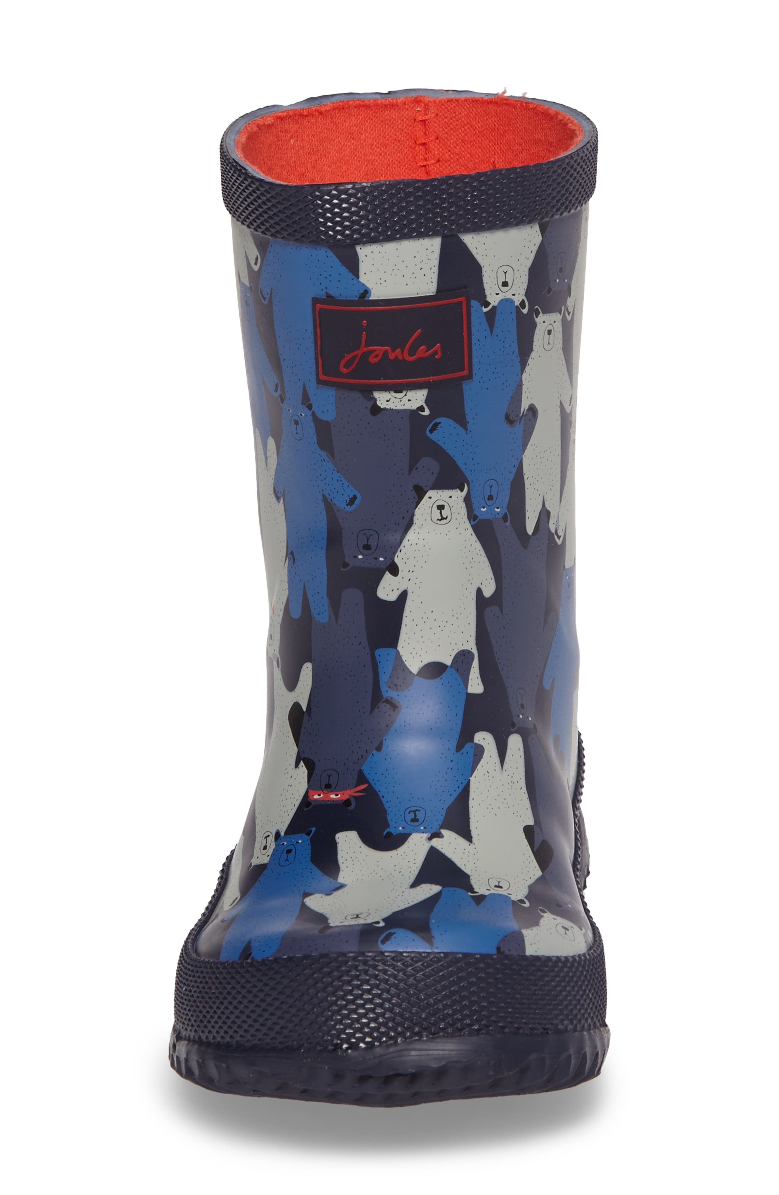 Printed Waterproof Rain Boot,                             Alternate thumbnail 4, color,                             Multi Bear Camo