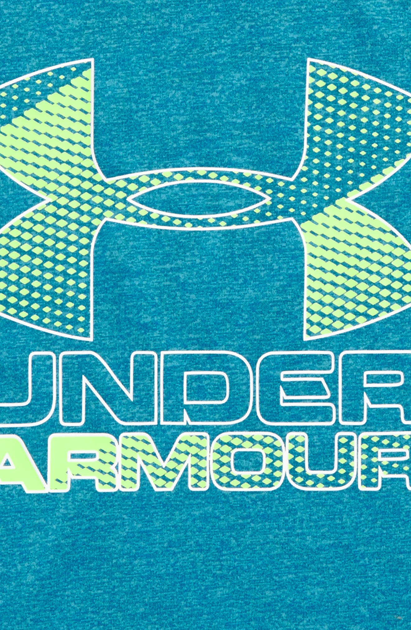 Alternate Image 2  - Under Armour Big Logo Hybrid 2.0 HeatGear® T-Shirt (Toddler Boys & Little Boys)