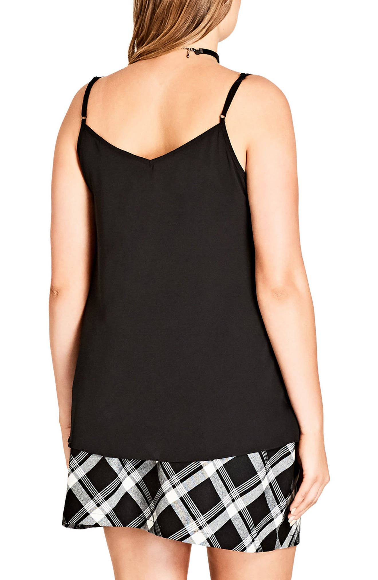 Alternate Image 2  - City Chic Sports Stripe Camisole (Plus Size)