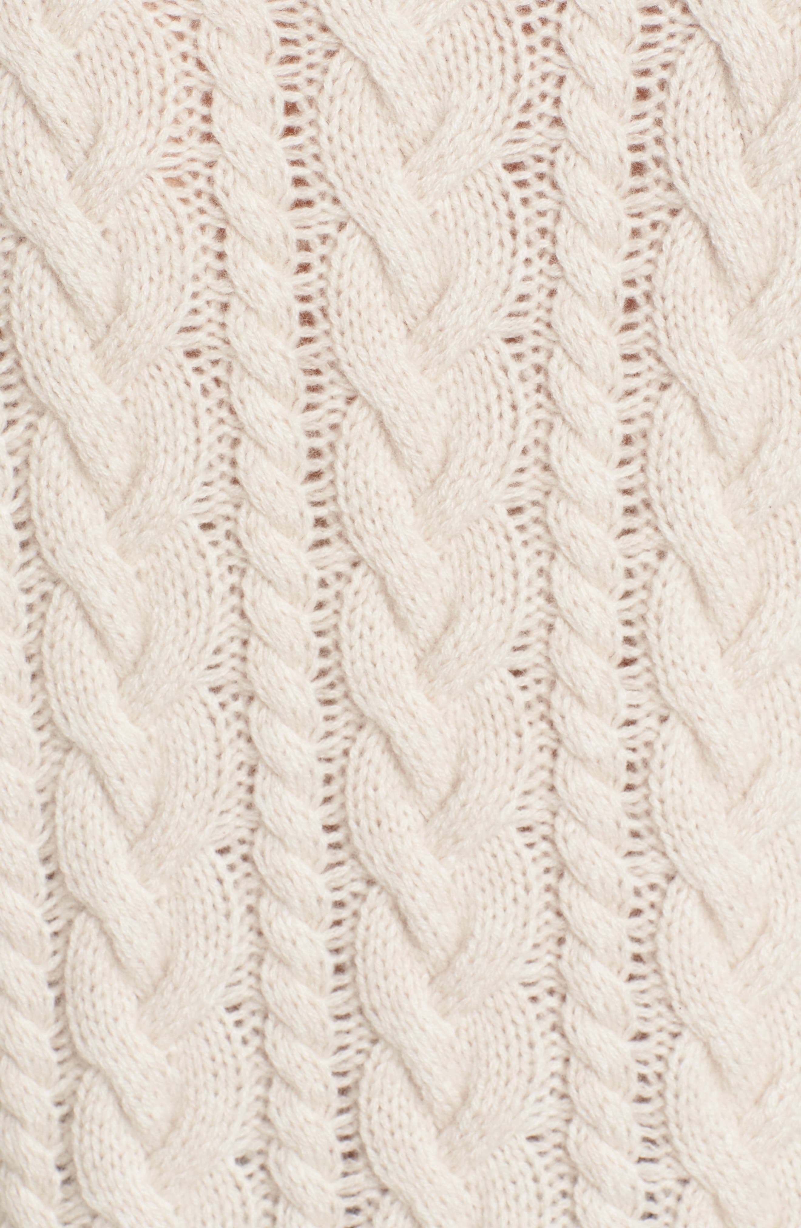 Cashmere Cable Sweater,                             Alternate thumbnail 5, color,                             Beige Pumice Heather