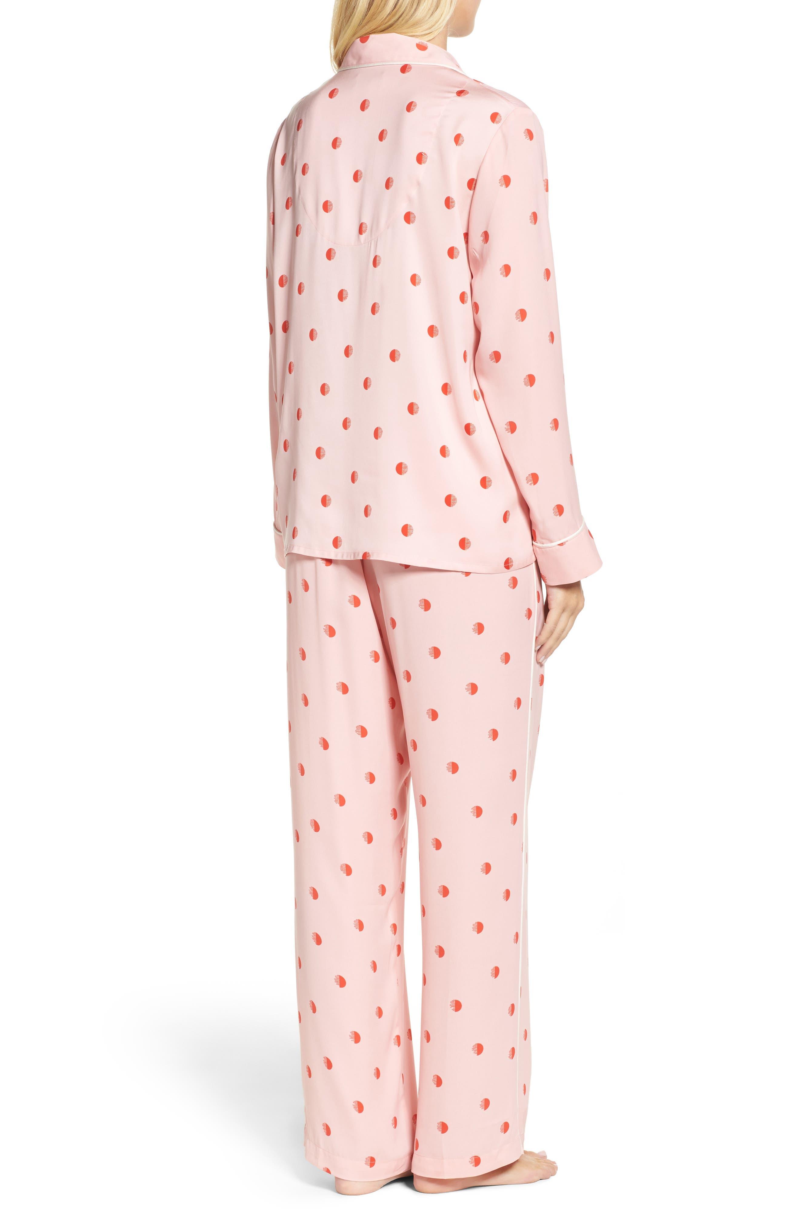 Alternate Image 2  - DKNY Washed Satin Pajamas