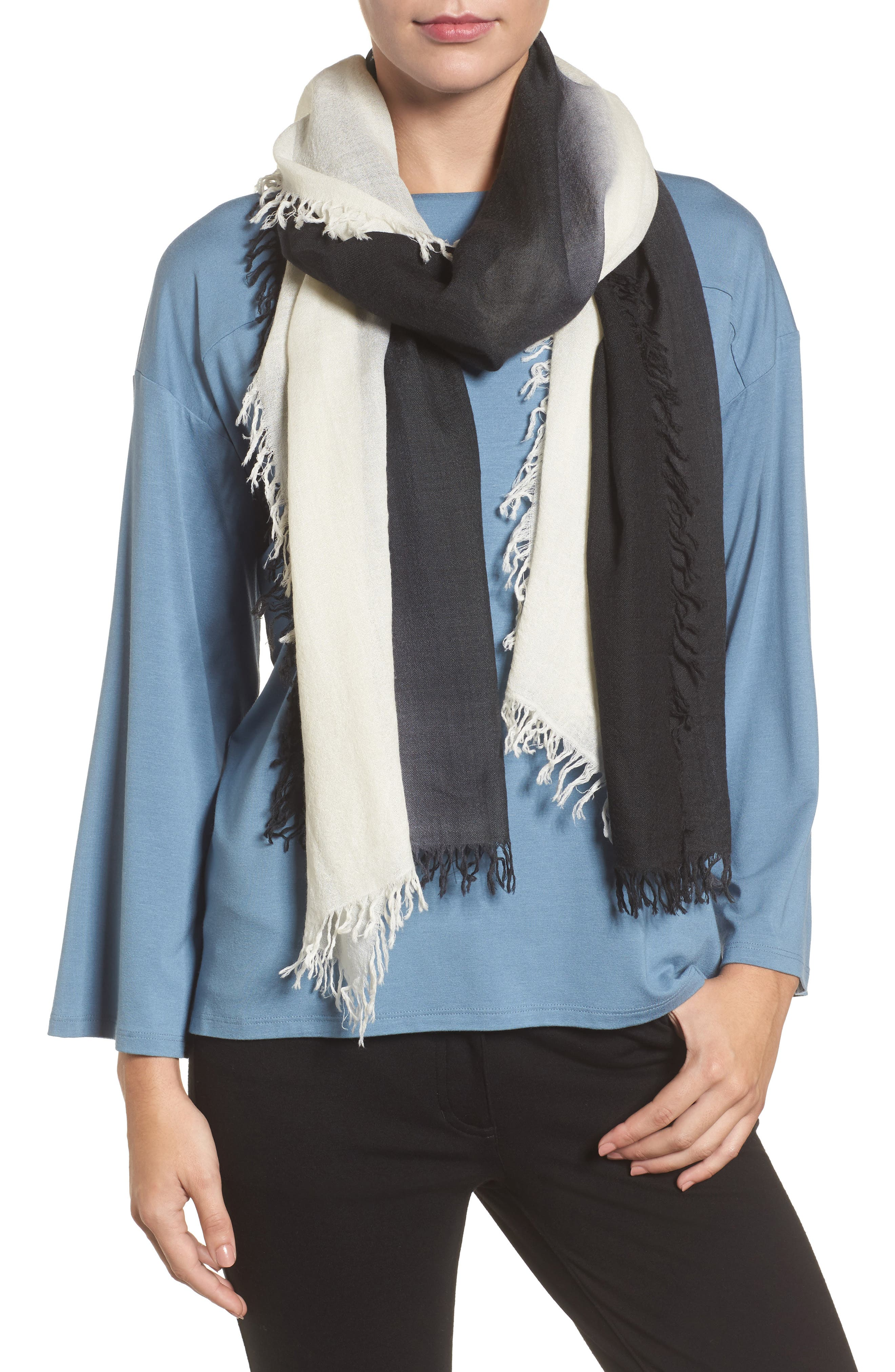 Alternate Image 1 Selected - Eileen Fisher Ombré Scarf