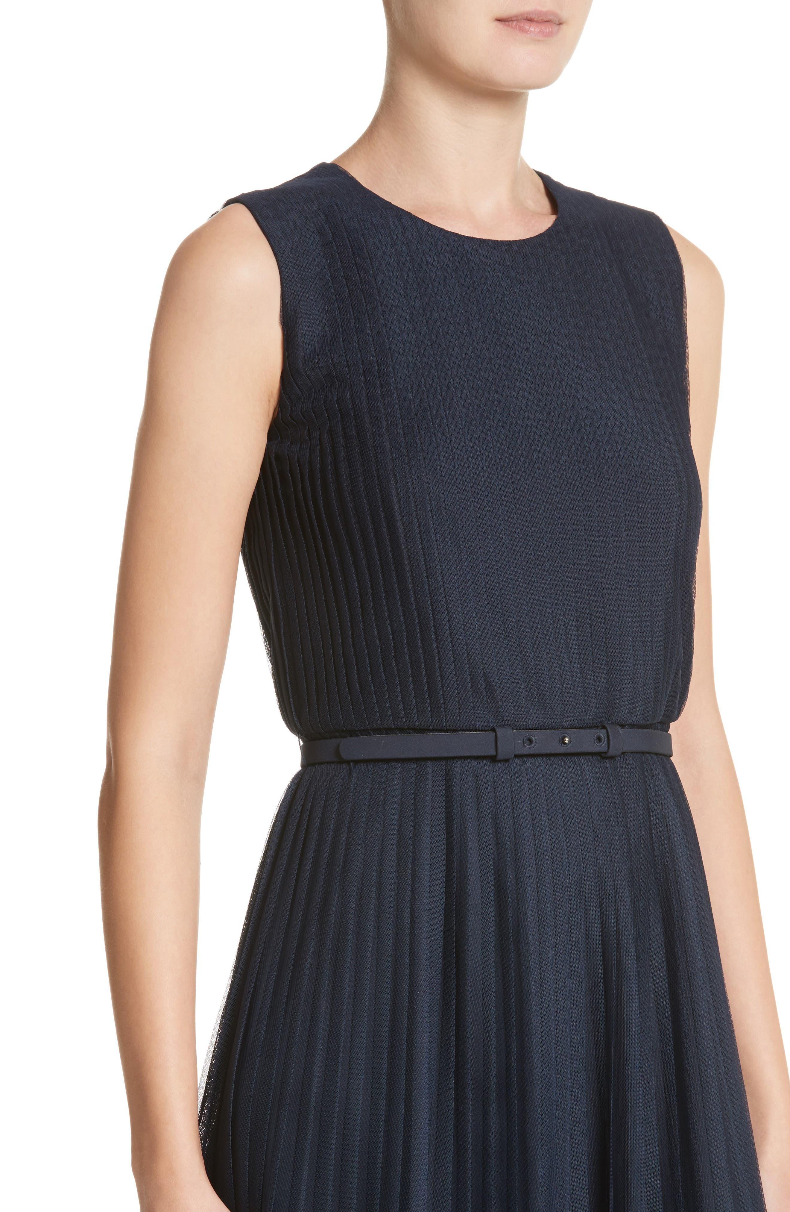 Alternate Image 4  - Lafayette 148 New York Pleated Mesh Dress