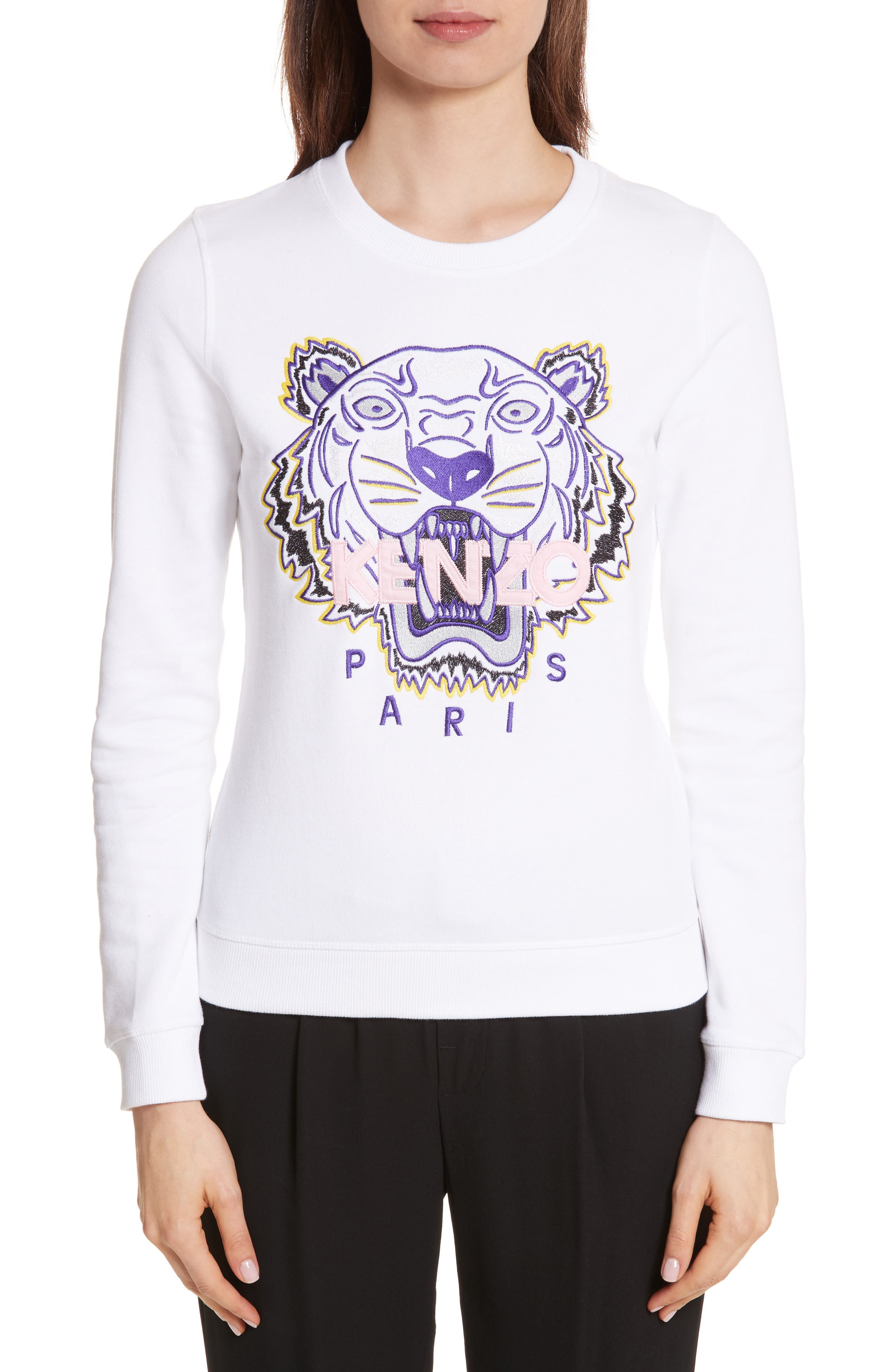 Classic Tiger Sweatshirt,                         Main,                         color, White