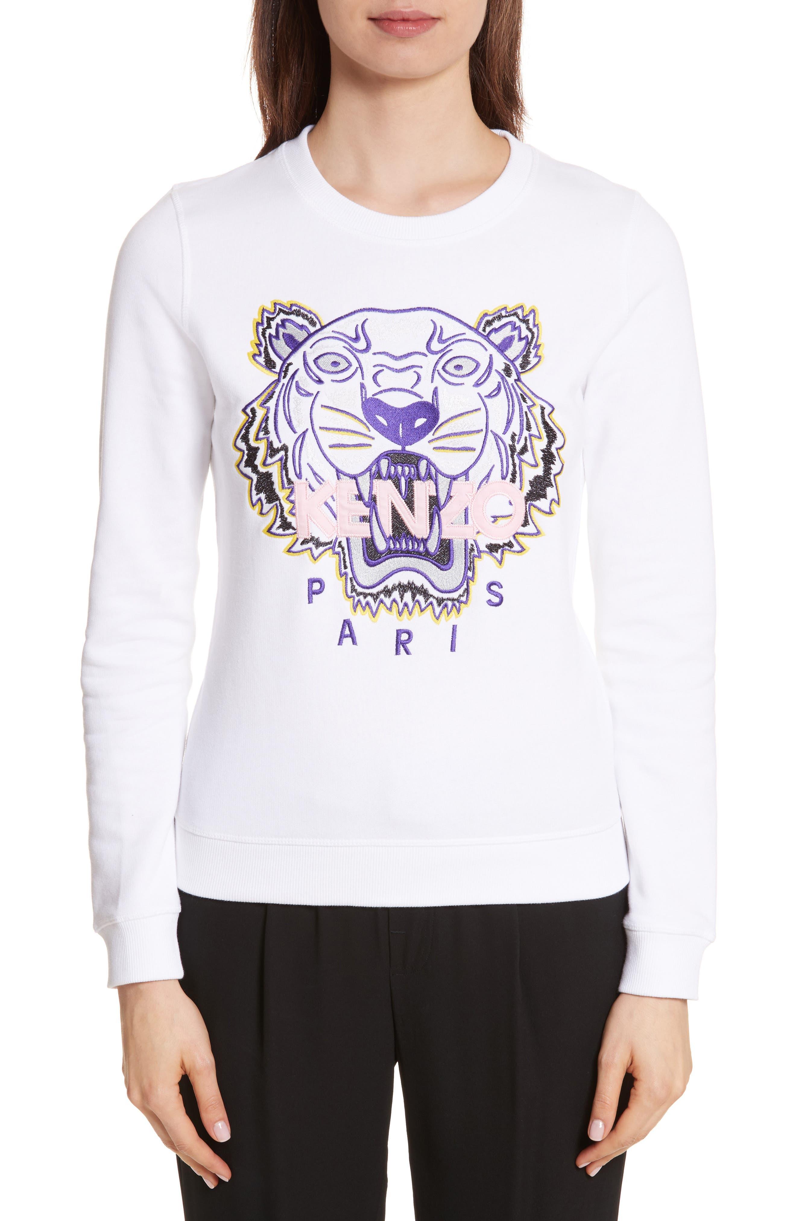 Classic Tiger Sweatshirt,                         Main,                         color, White