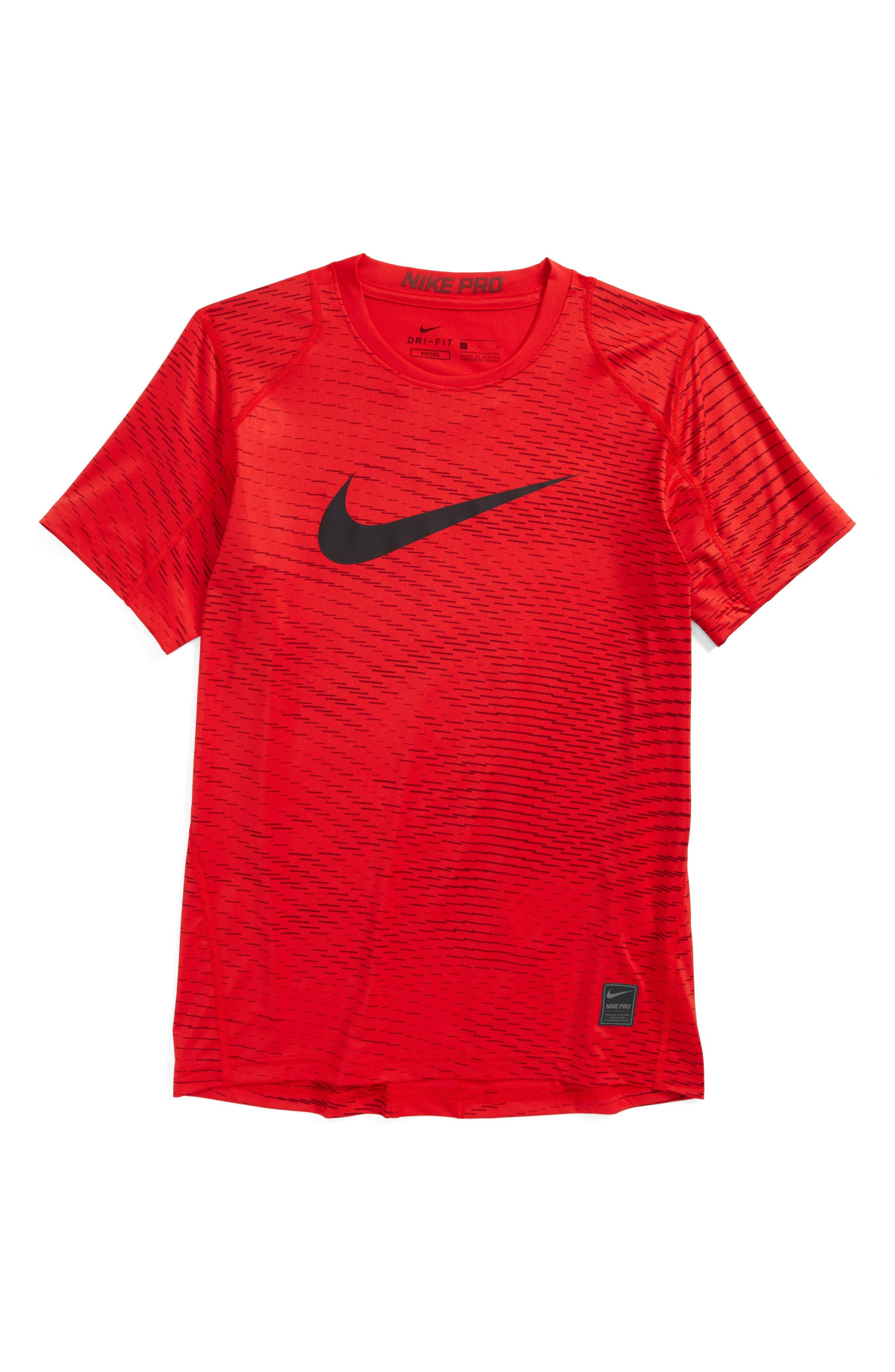 Main Image - Nike Pro Dry Fitted Logo T-Shirt (Little Boys & Big Boys)