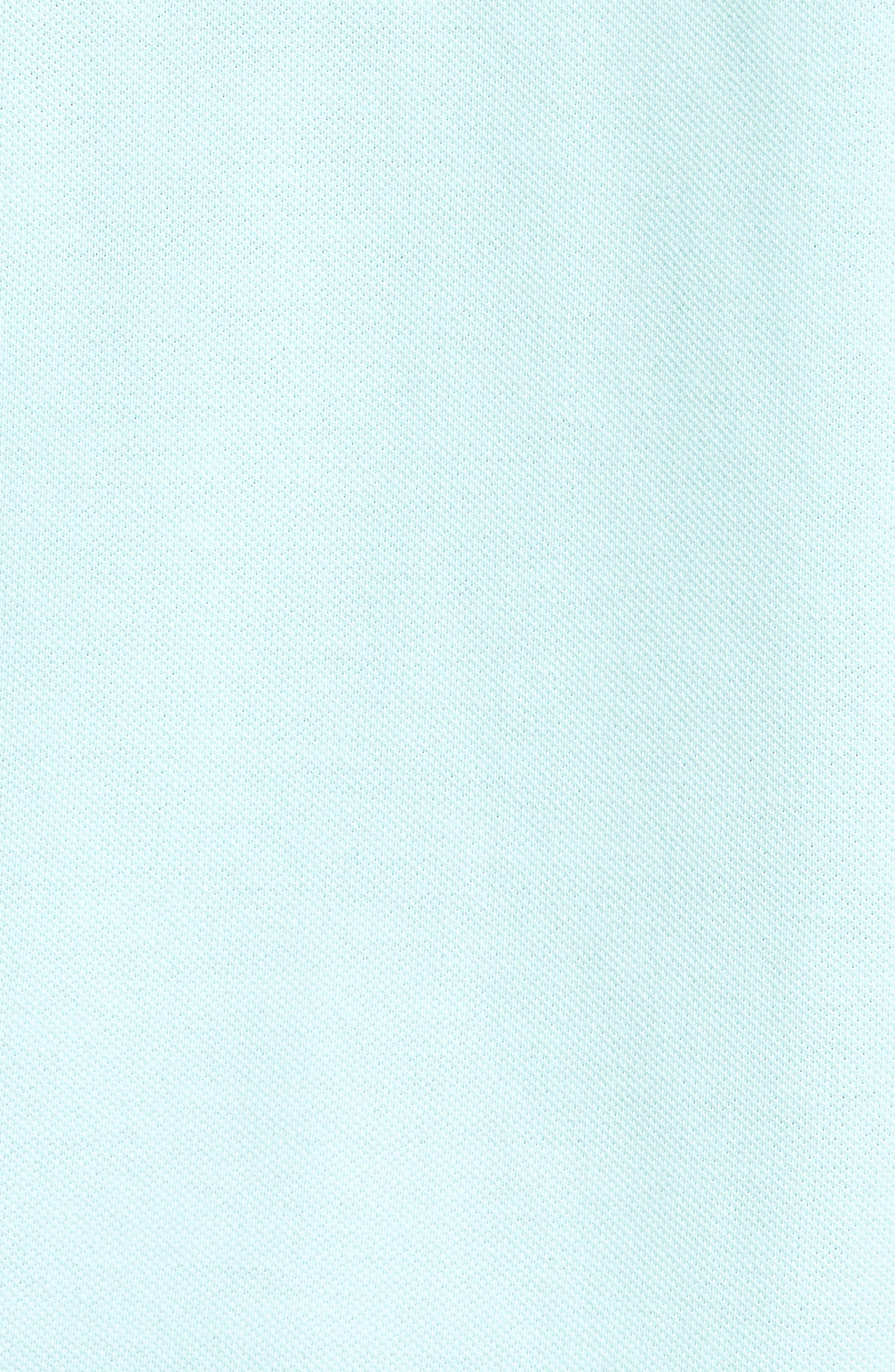 Classic Piqué Knit Polo,                             Alternate thumbnail 5, color,                             Blue Mist