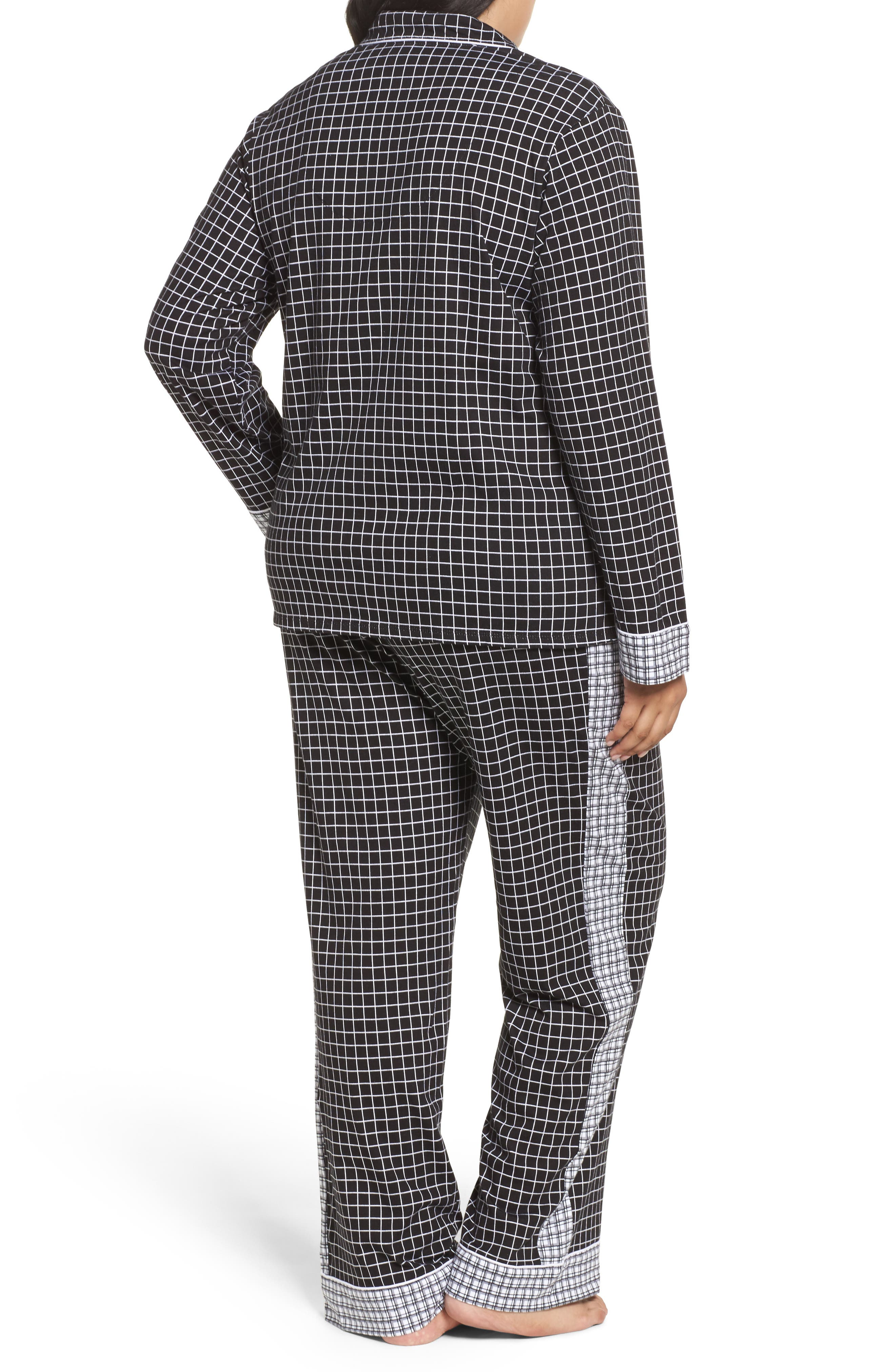 Alternate Image 2  - DKNY Jersey Pajamas (Plus Size)