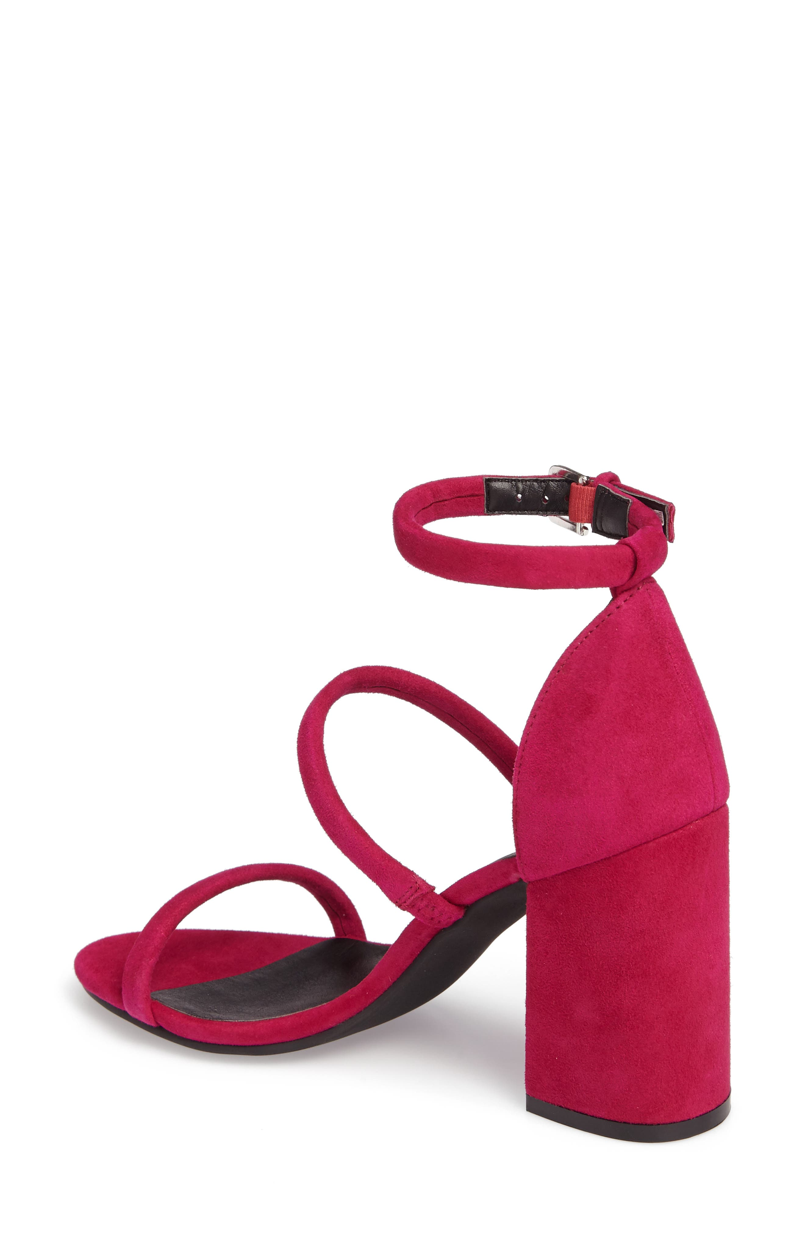 Carly Strappy Sandal,                             Alternate thumbnail 2, color,                             Fuschia Suede