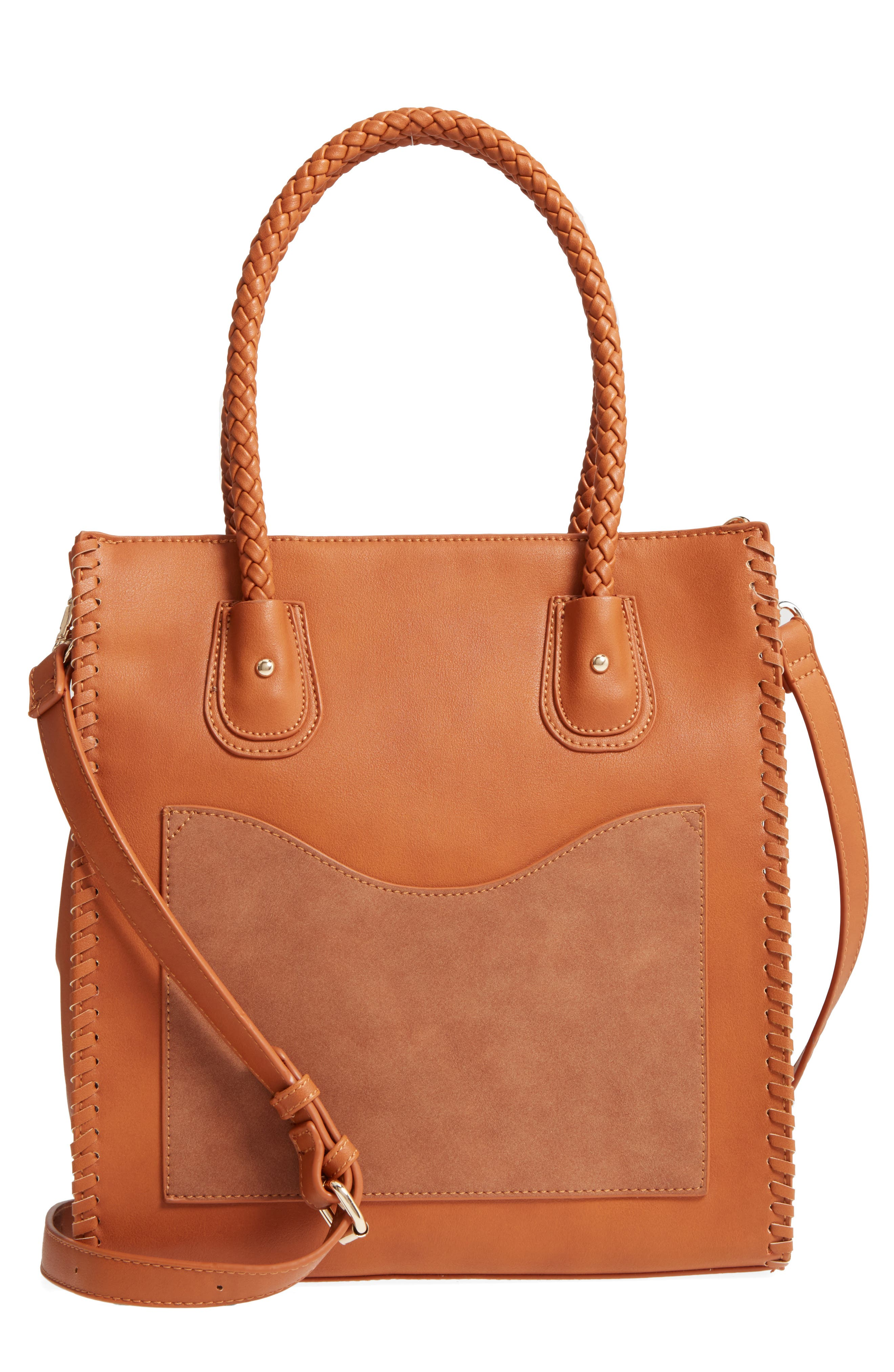 Main Image - Emperia Whipstitch Faux Leather Tote