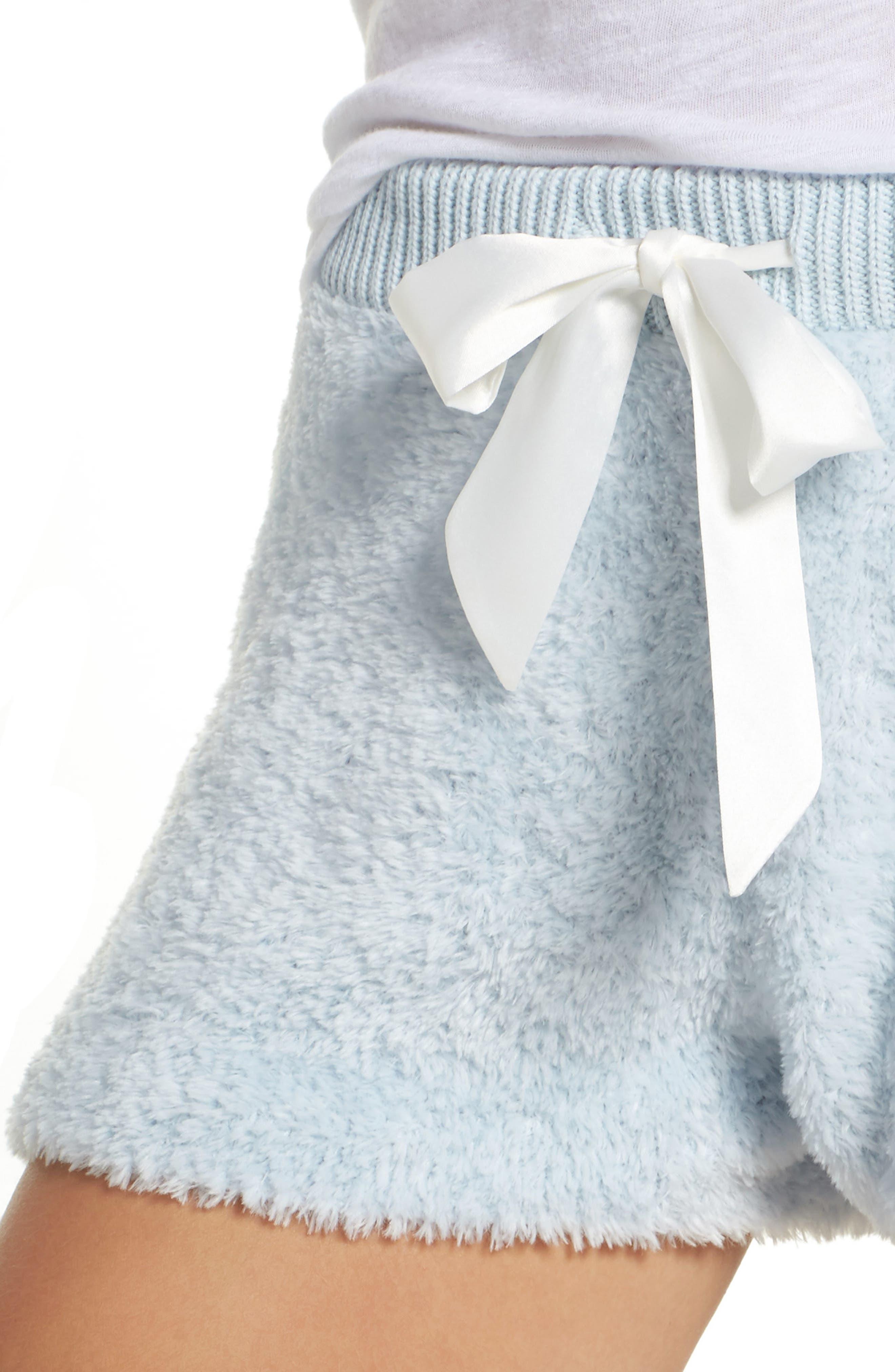 Fuzzy Lounge Shorts,                             Alternate thumbnail 6, color,                             Blue Drift
