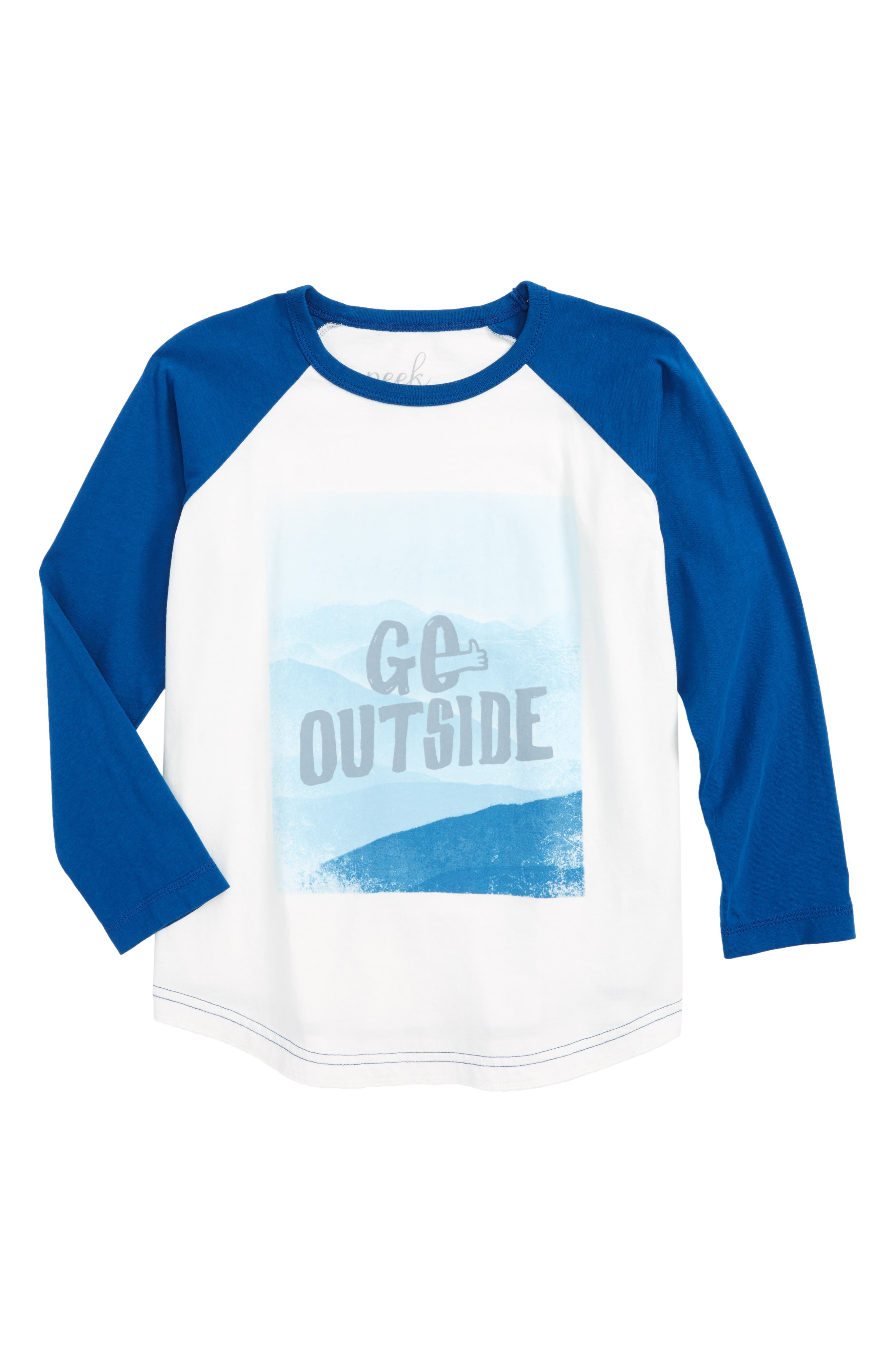 Main Image - Peek Go Outside Graphic Long Sleeve T-Shirt (Toddler Boys, Little Boys & Big Boys)