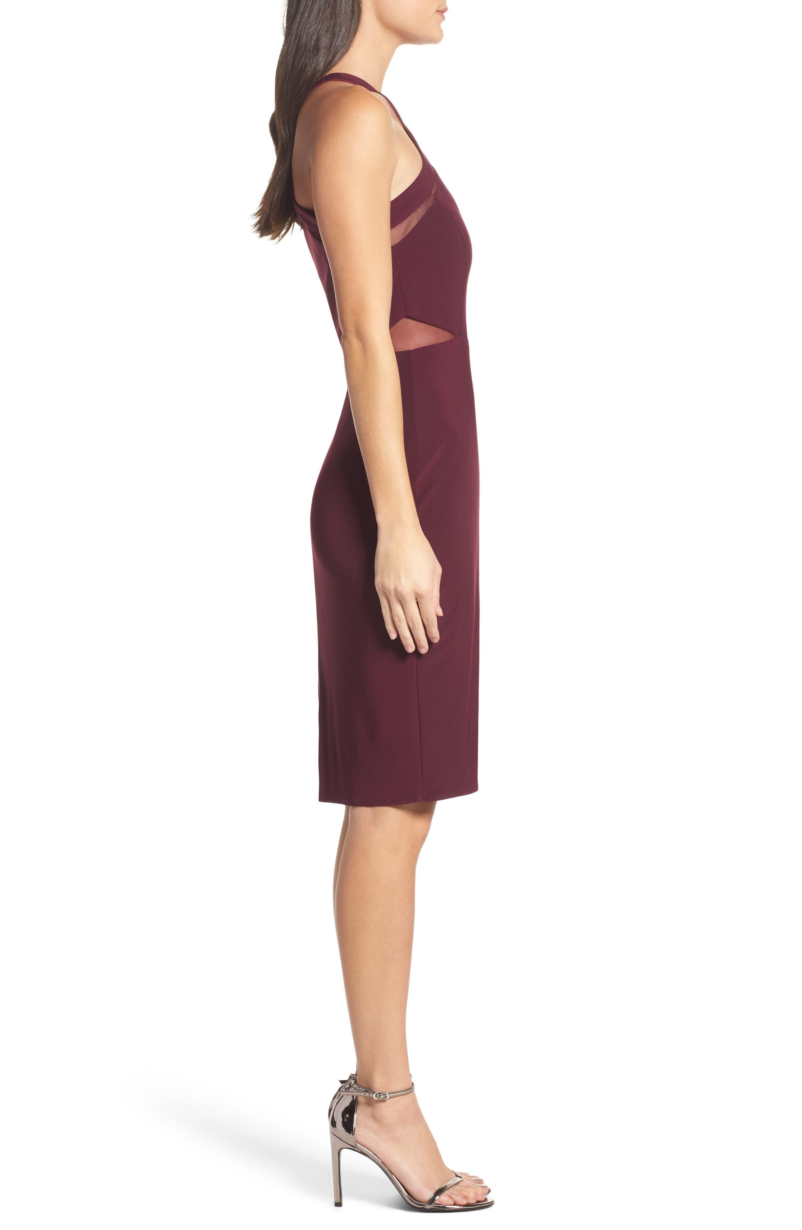 Alternate Image 3  - Morgan & Co. Mesh Inset Sheath Dress