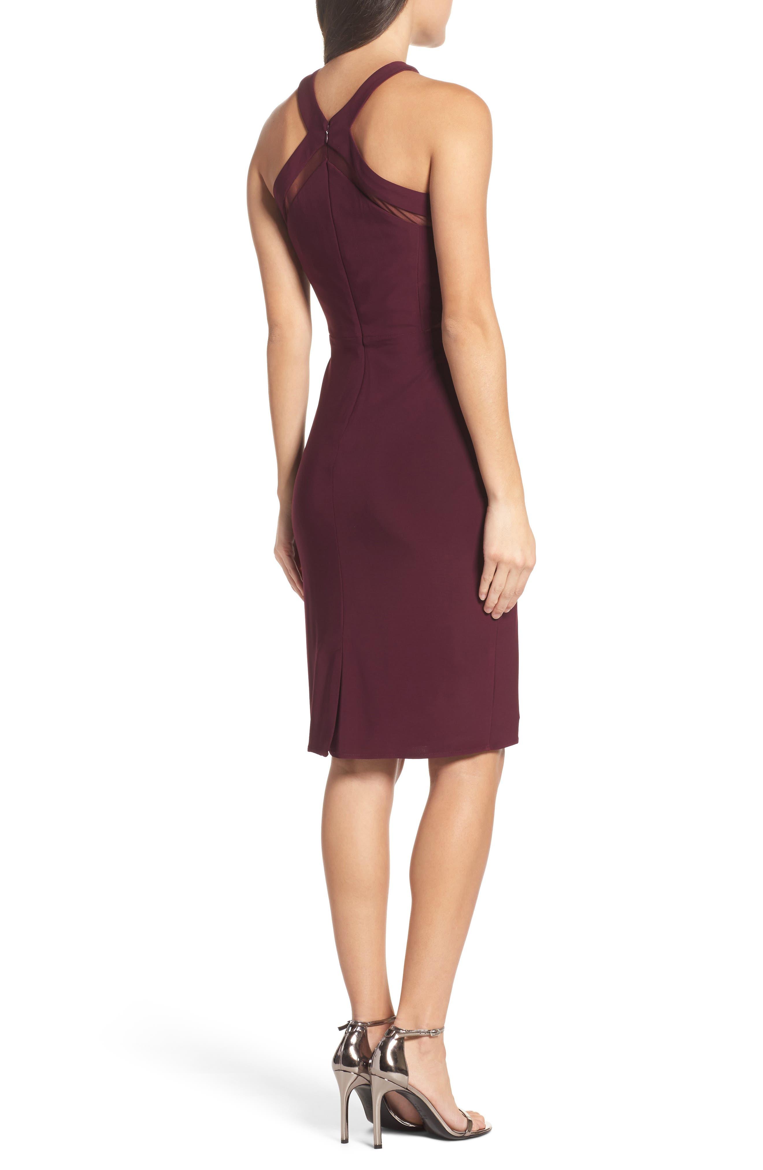 Alternate Image 2  - Morgan & Co. Mesh Inset Sheath Dress