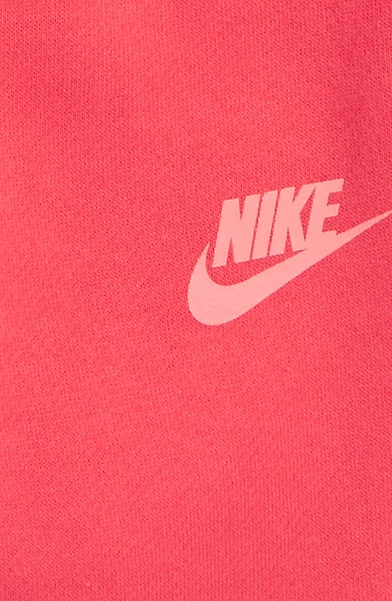 Alternate Image 3  - Nike Fleece Sweatshirt & Sweatpants Set (Baby Girls)