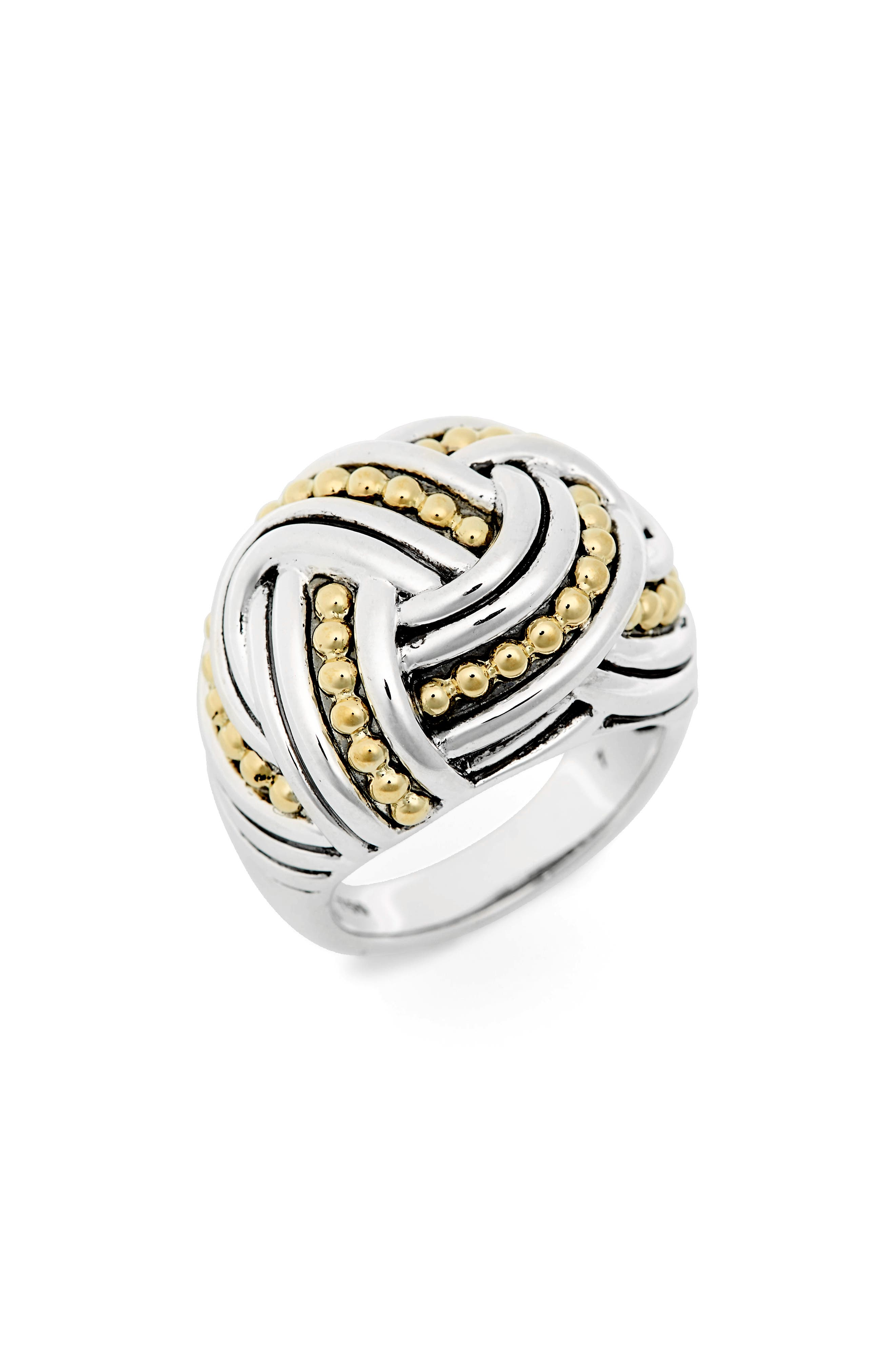 LAGOS Torsade Large Rounded Rectangle Ring