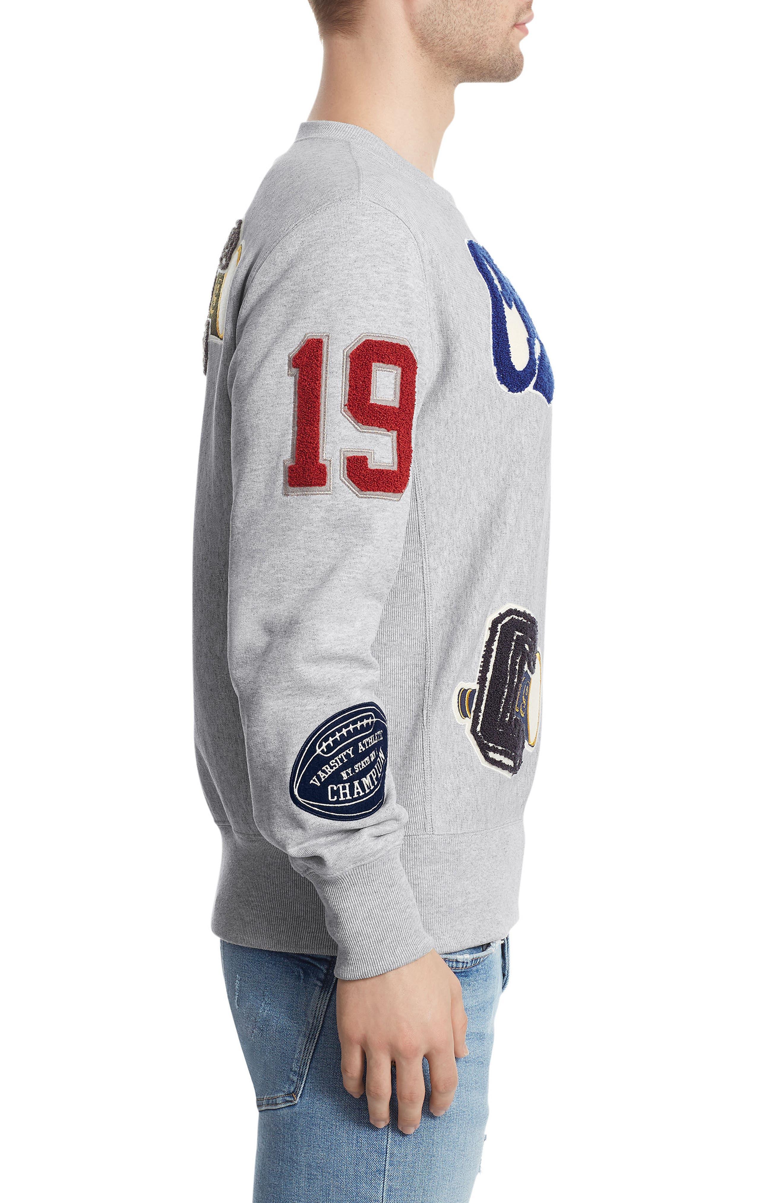 Alternate Image 3  - Champion Reverse Weave® Patch Sweatshirt