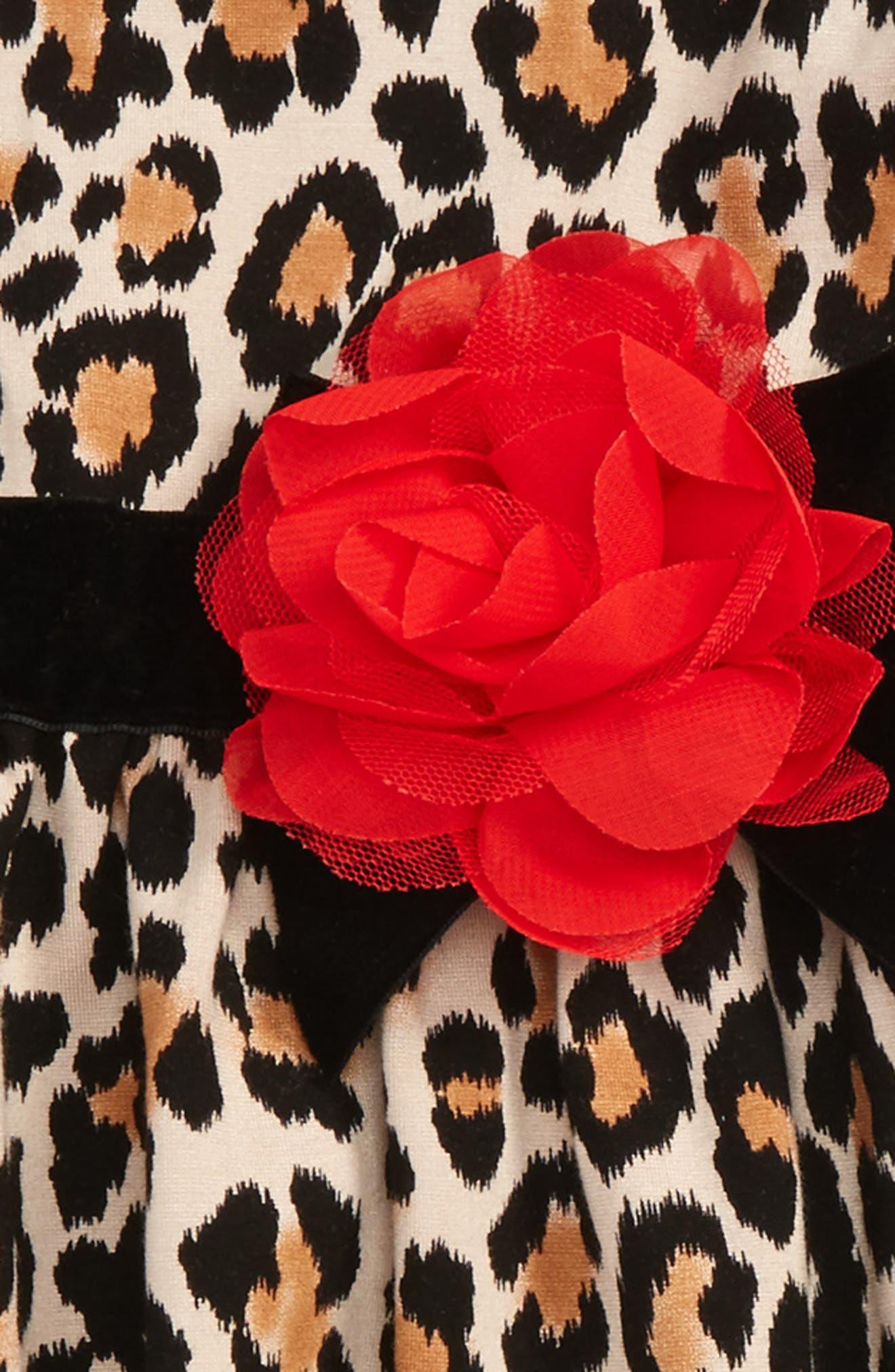 leopard print sleeveless dress,                             Alternate thumbnail 2, color,                             Leopard