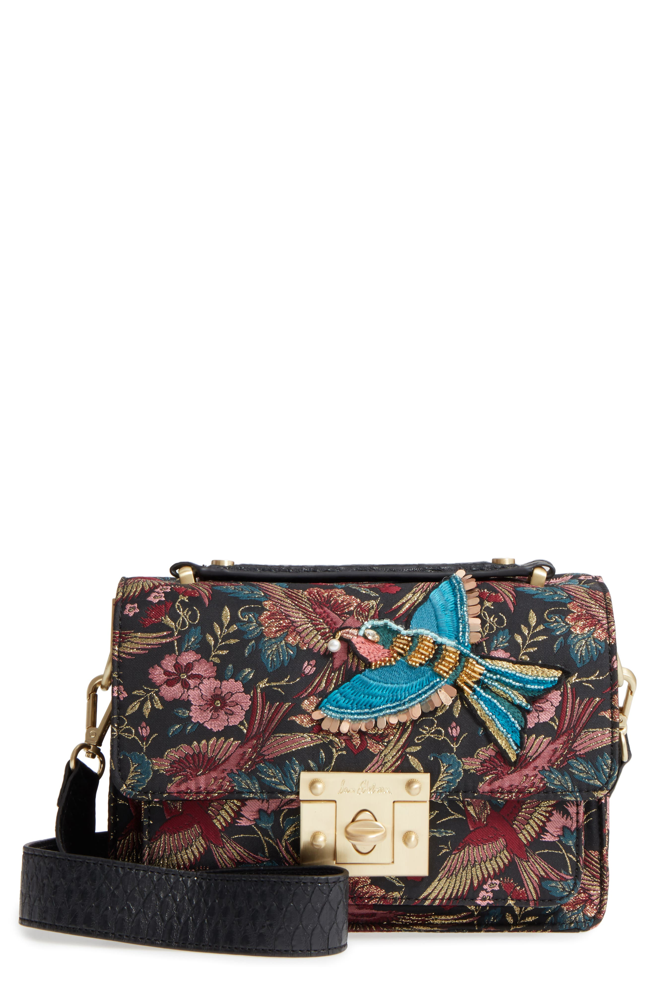 Gessica Jacquard Shoulder Bag,                         Main,                         color, Majestic Bird