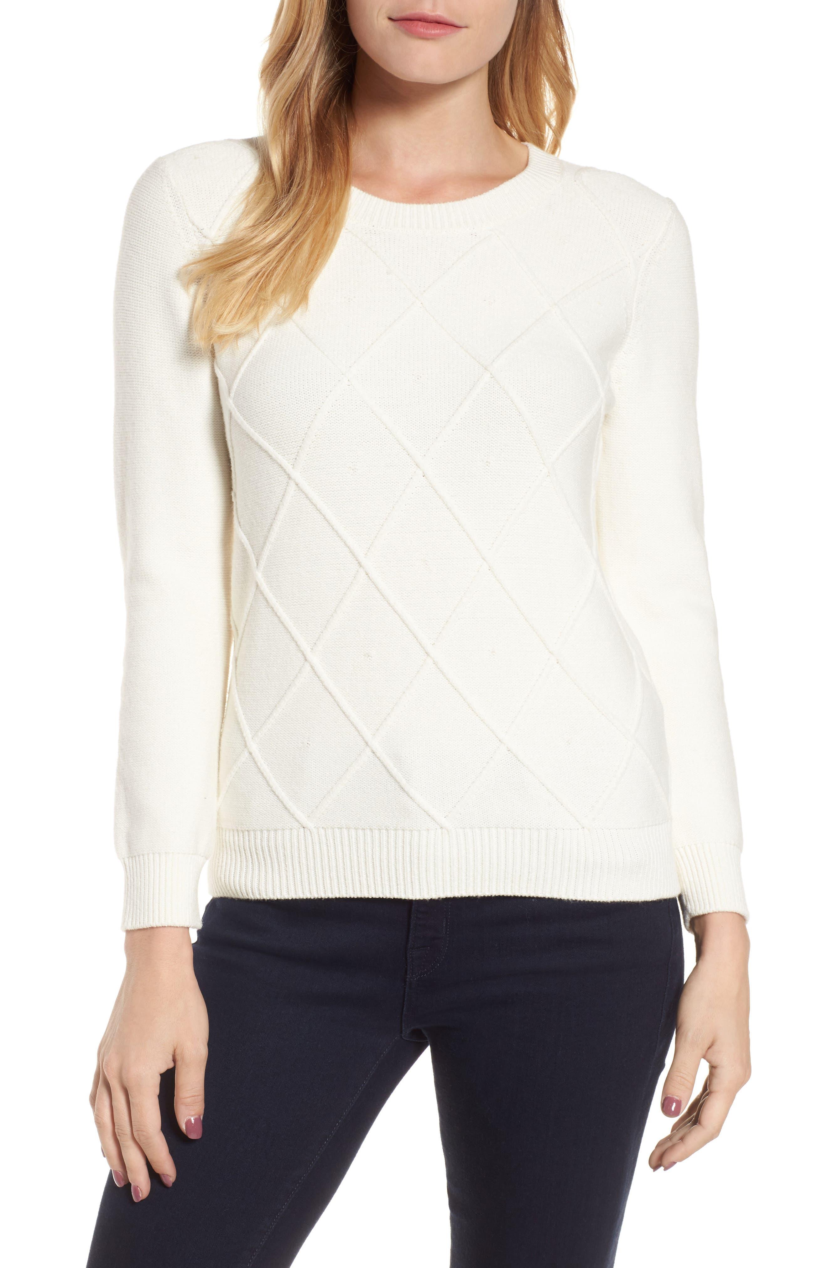 Draper James Argyle Dot Sweater