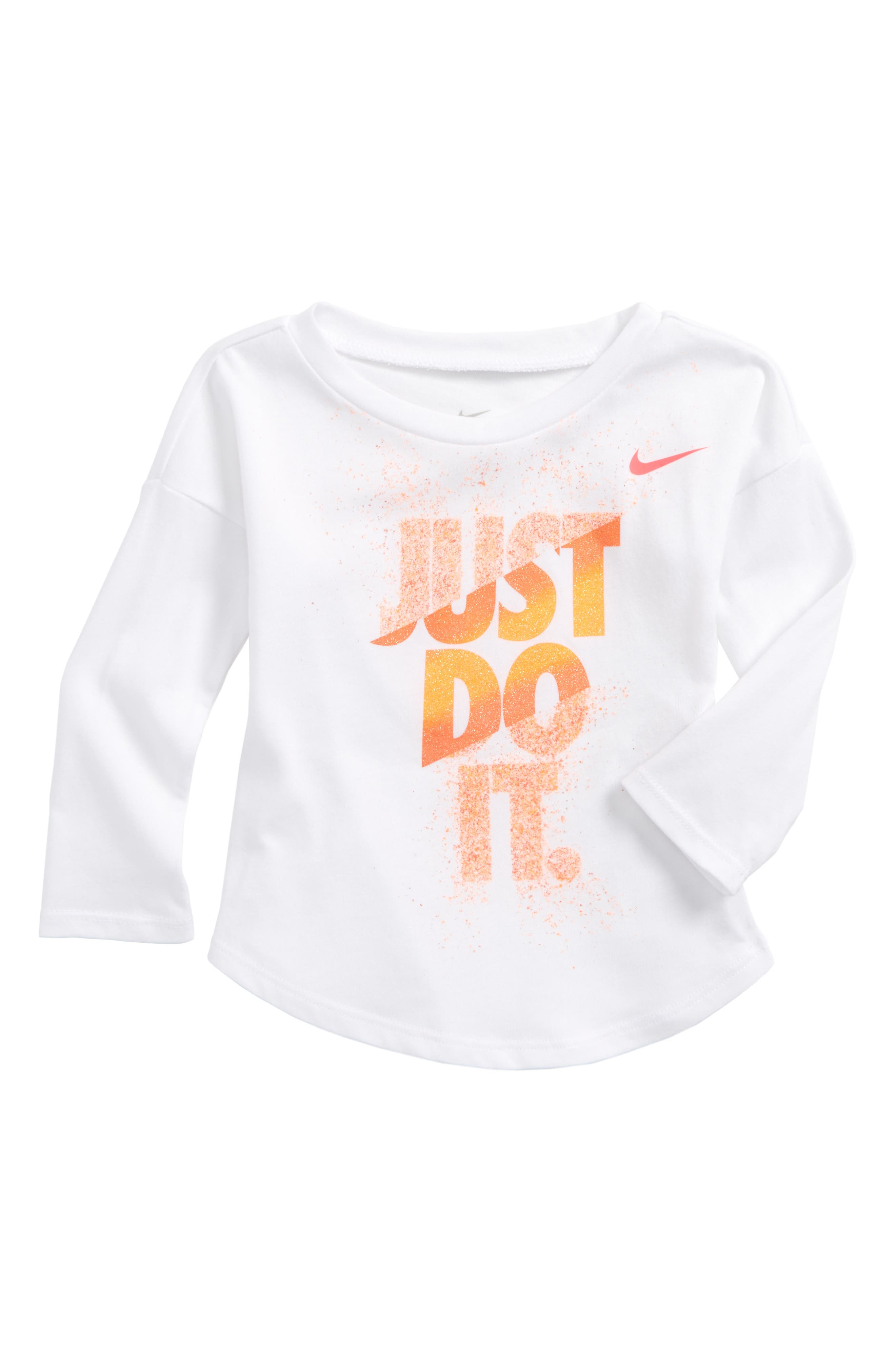 Nike Just Do It Splice Graphic Tee (Baby Girls)