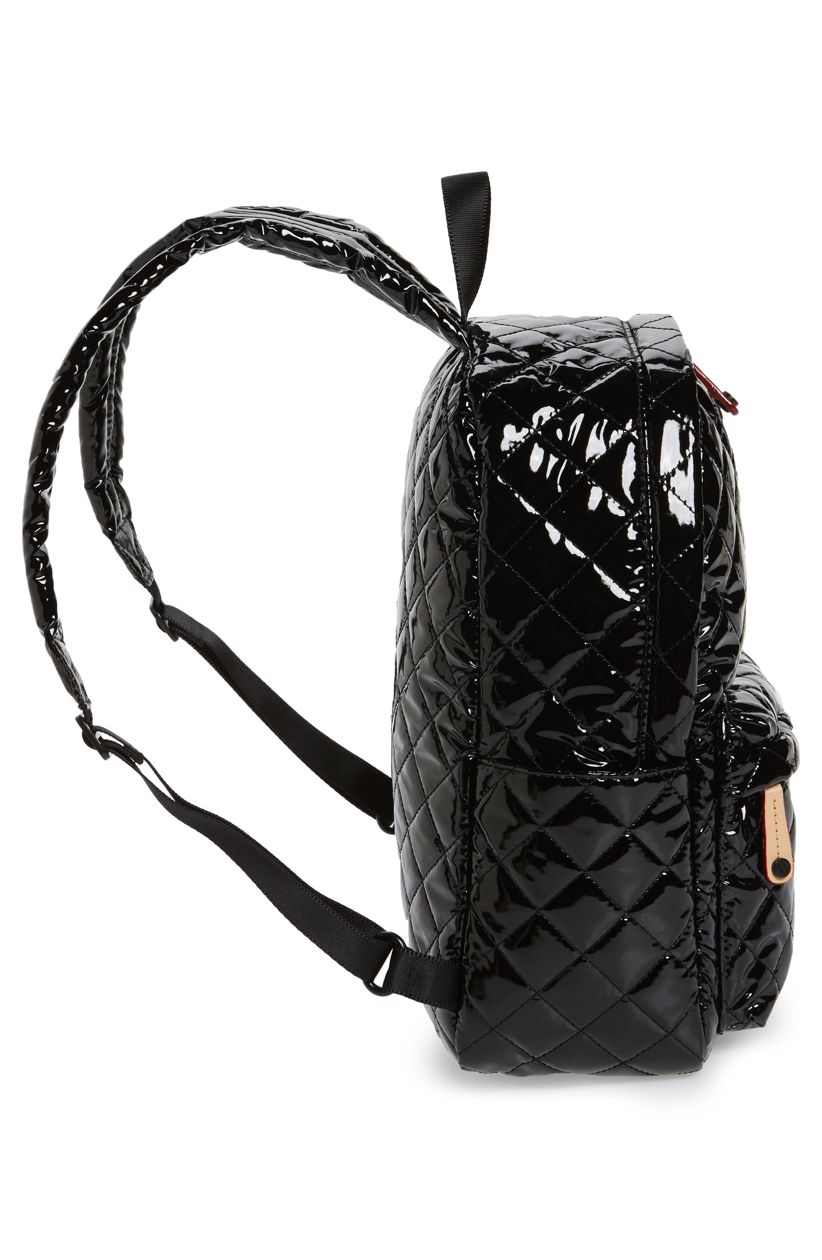 Small Metro Backpack,                             Alternate thumbnail 3, color,                             Black Lacquer