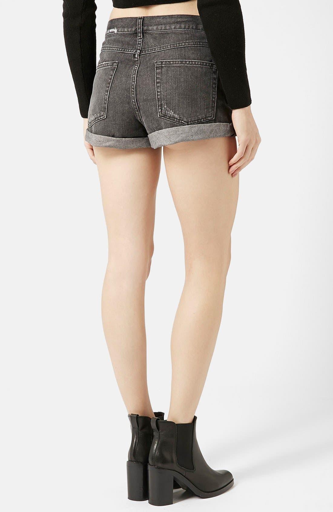 Alternate Image 2  - Topshop Moto 'Rosa' Cuffed Denim Shorts