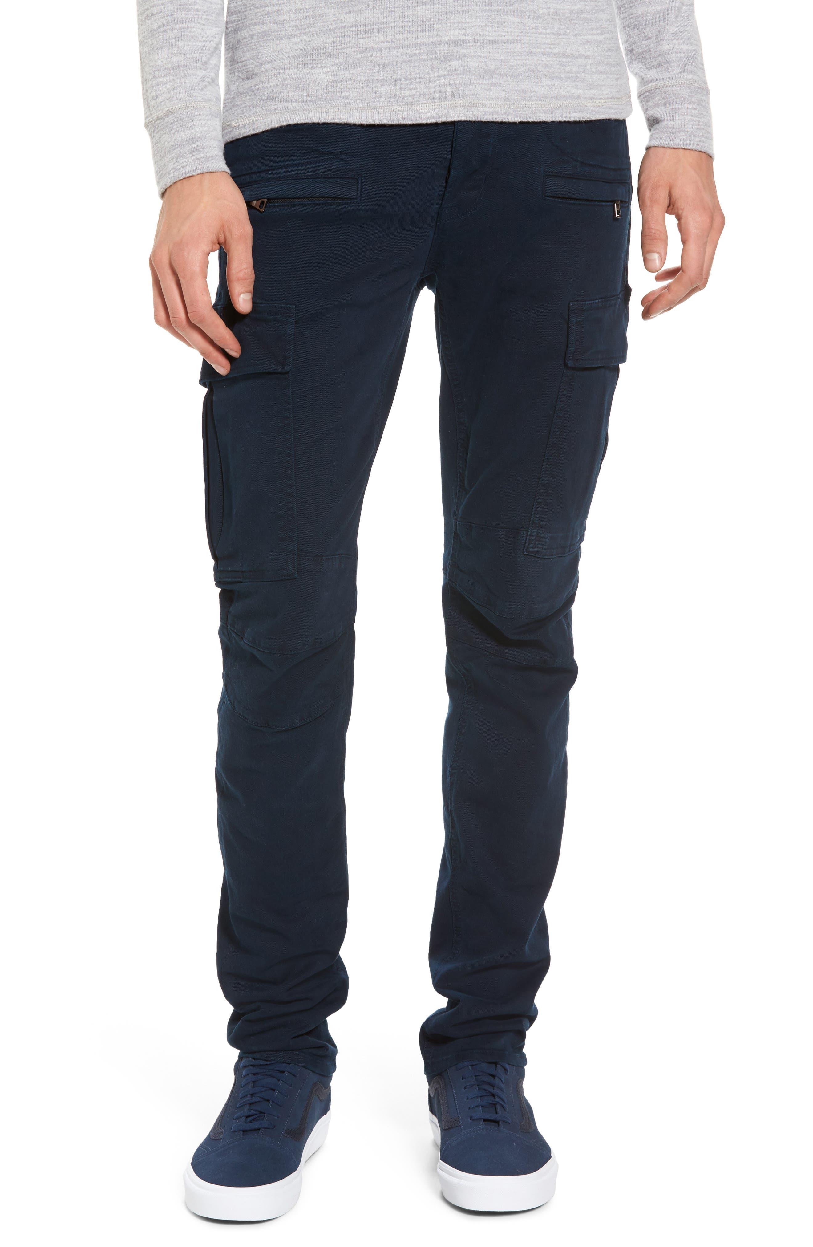 Hudson Jeans Greyson Cargo Biker Skinny Fit Jeans (Ink)