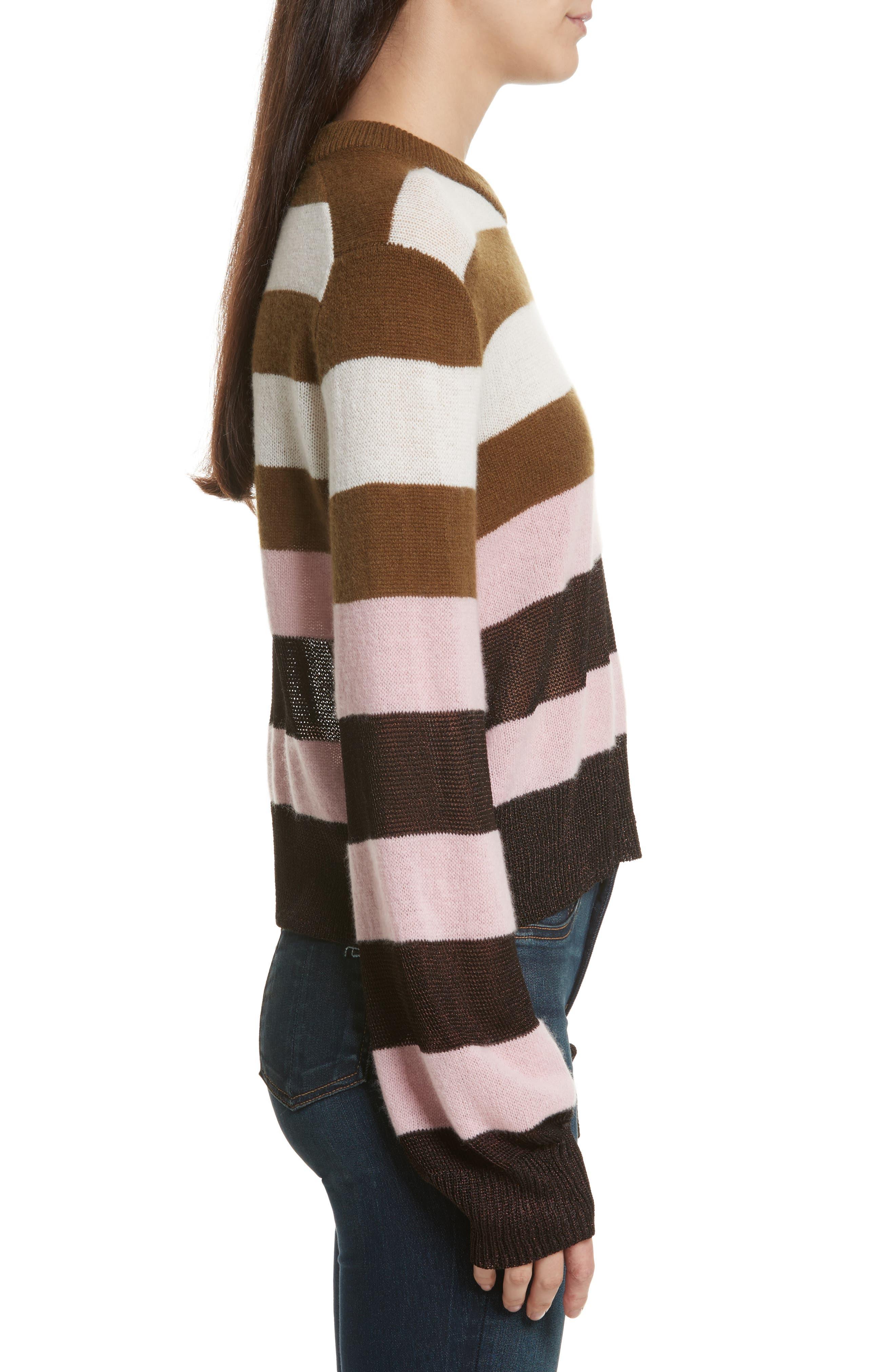 Annika Stripe Sweater,                             Alternate thumbnail 4, color,                             Pink Multi